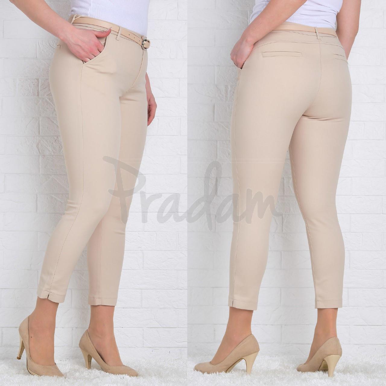 9783-P (GS9783P) Moon girl брюки женские батальные 7/8 бежевые весенние стрейчевые (30-38, 12 ед.)