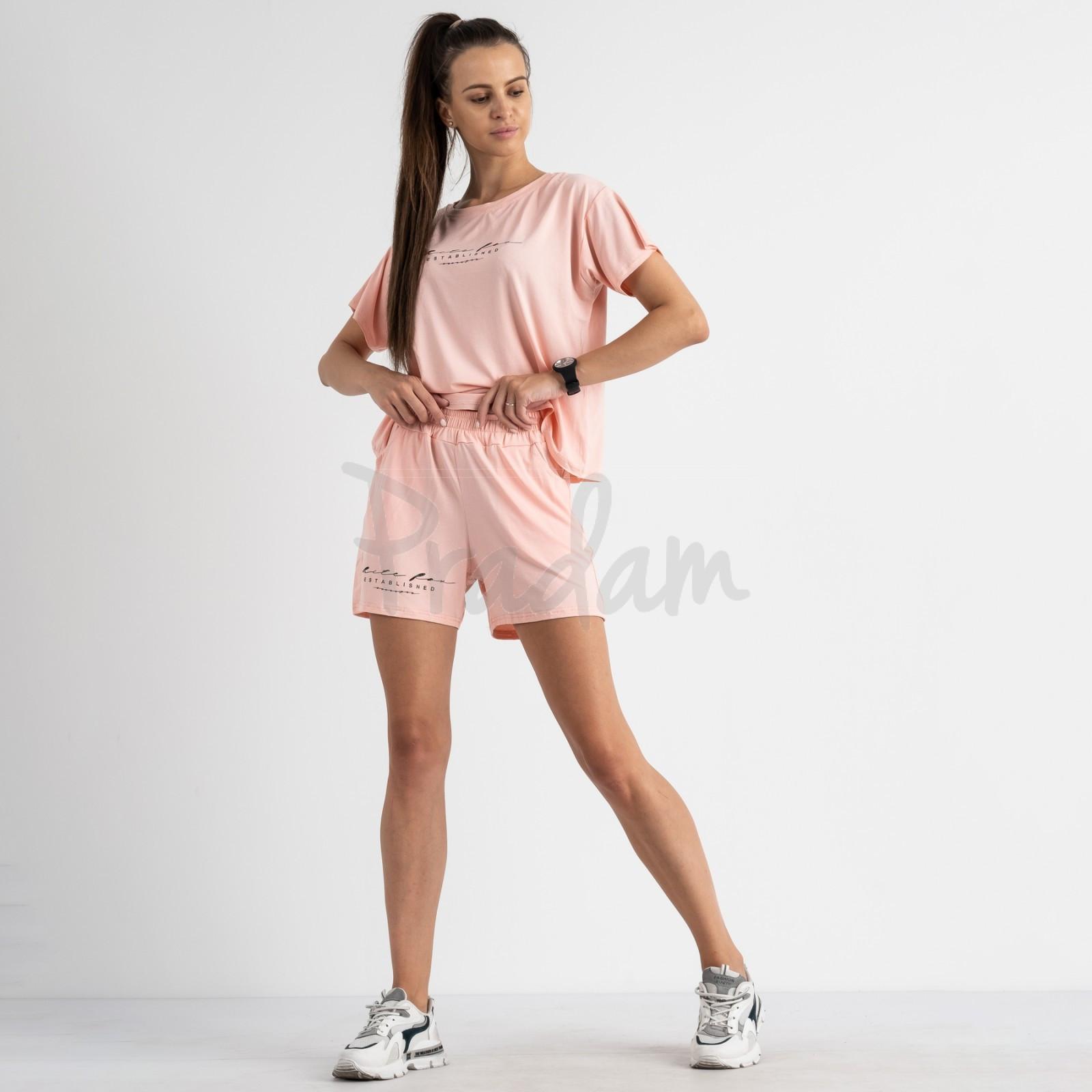 8340-5 светло-розовый женский костюм трикотажный (4 ед. размеры: S.M.L.XL)