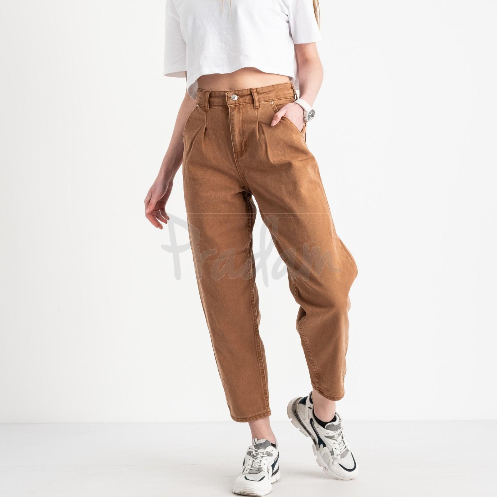 3293 джинсы-балоны коричневые котоновые (8 ед. размеры: 25.26/2.28/2.30/2.32)