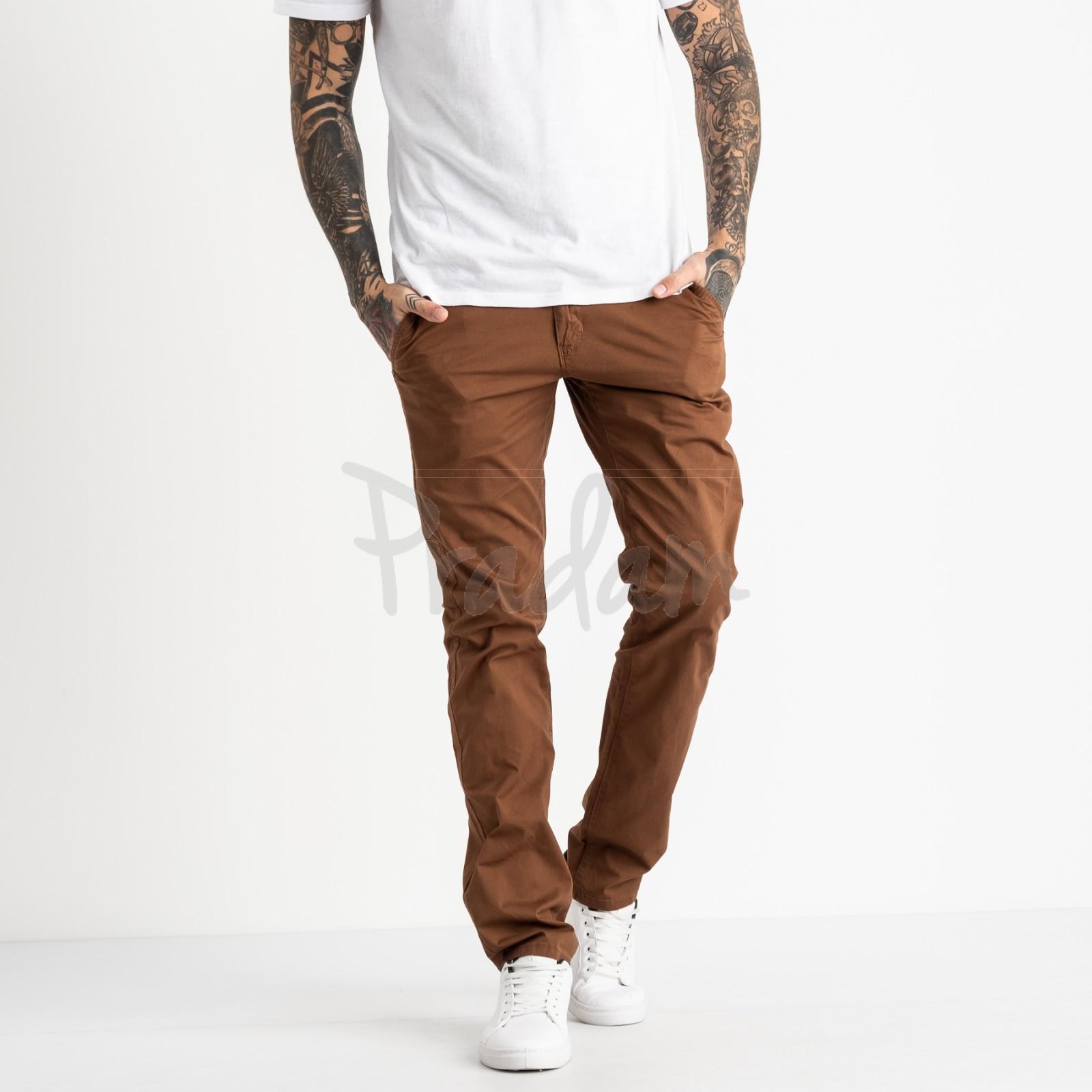 5769 LS брюки мужские коричневые стрейчевые (7 ед. размеры: 28.29.30.31.32.33.34)