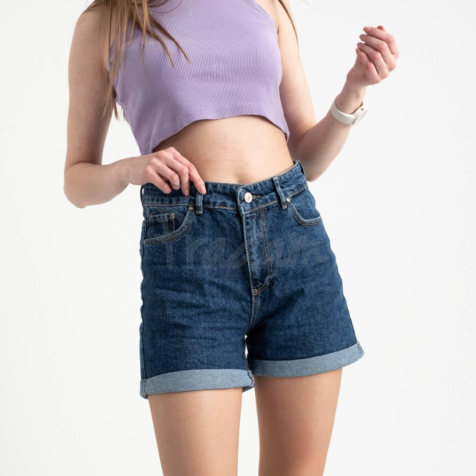 2043 MOM шорты женские синие котоновые (6 ед. размеры: 25.26/2.28.30.32)