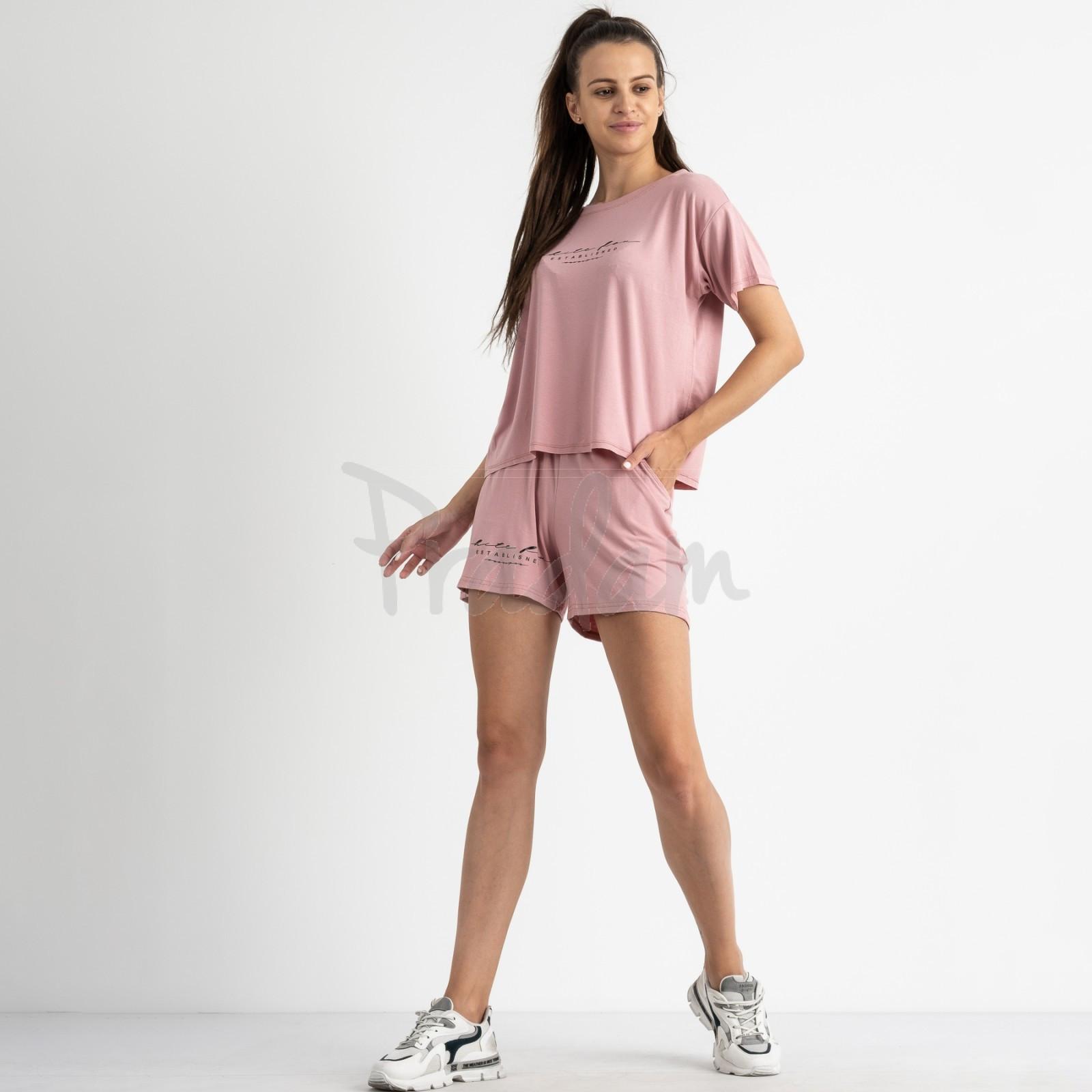 8340-2 розовый женский костюм  трикотажный (4 ед. размеры: 42.44.46.48)