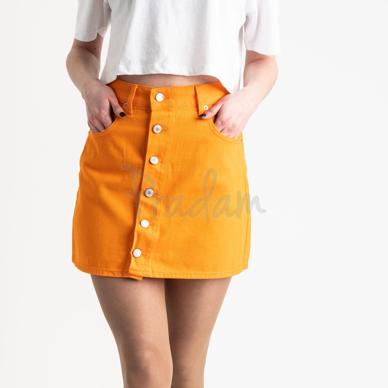 2854-1 XRay юбка на пуговицах оранжевая котоновая (6 ед. размеры: 34.34.36.36.38.40)