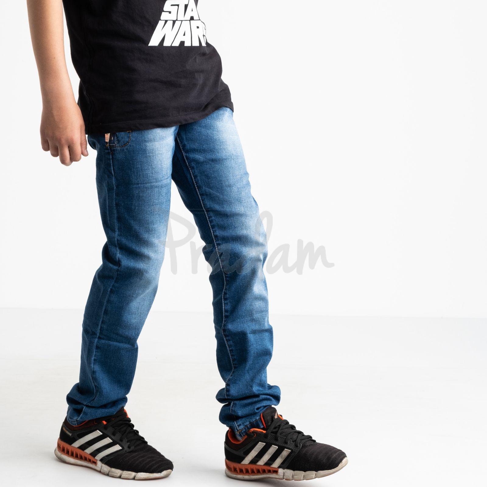 0091-5 Vingvgs джинсы юниор синие стрейчевые (7 ед. размеры: 23.24.25.26.27.28.29)
