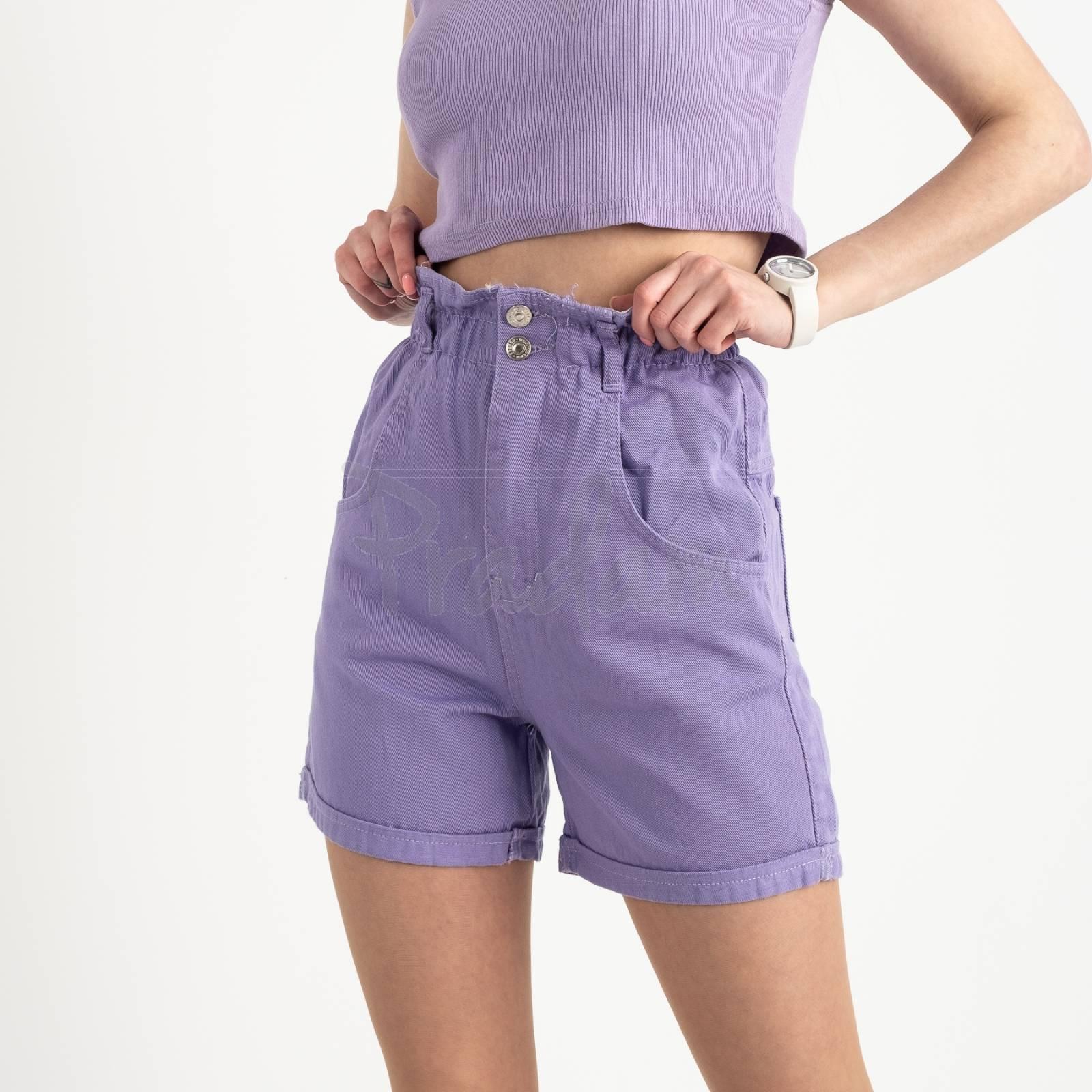 3377 шорты джинсовые сиреневые котоновые  ( 8 ед. размеры: 25/2.26/3.28/2.30 )