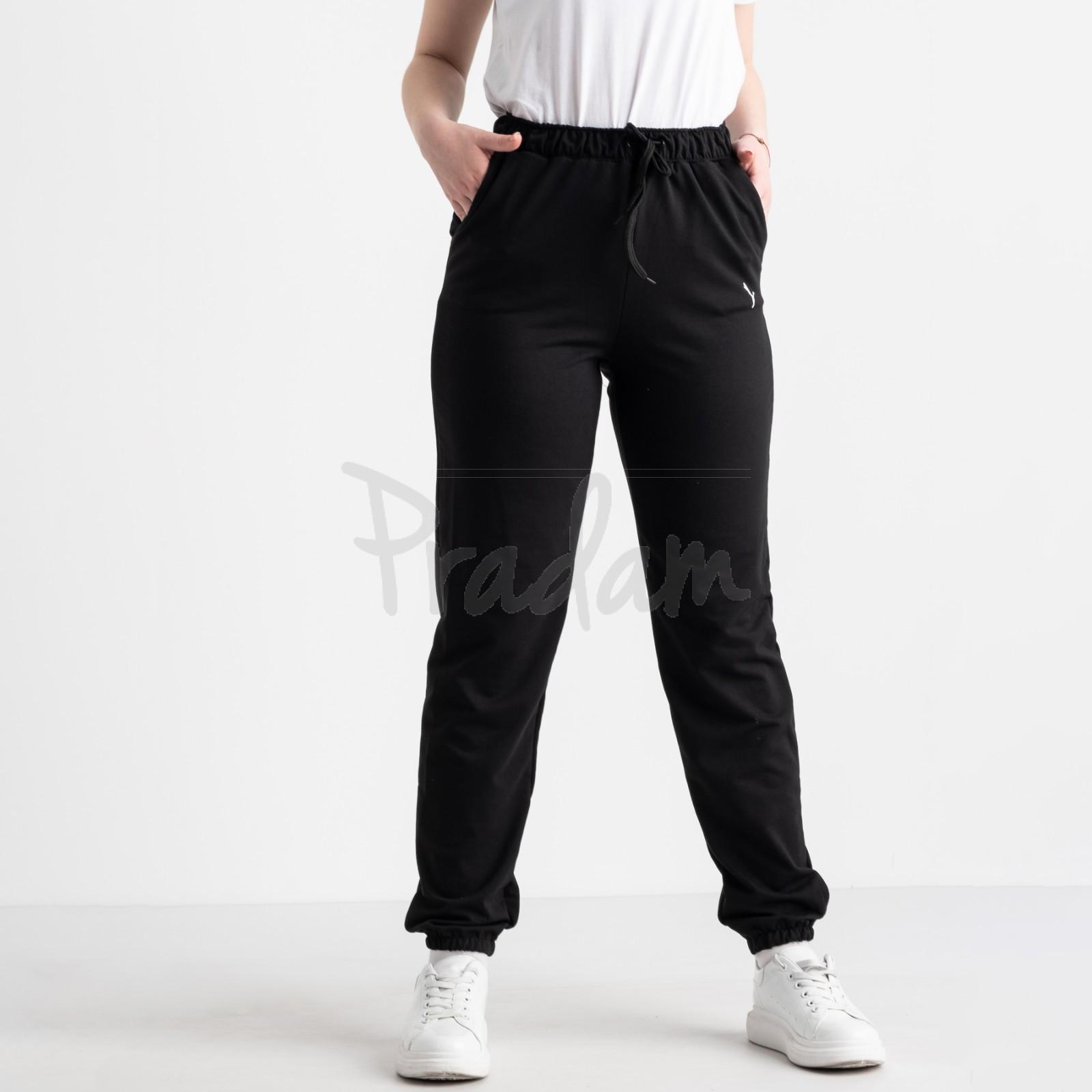 14870-1 Mishely брюки женские батальные спортивные черные стрейчевые (4 ед. размеры: 50.52.54.56)