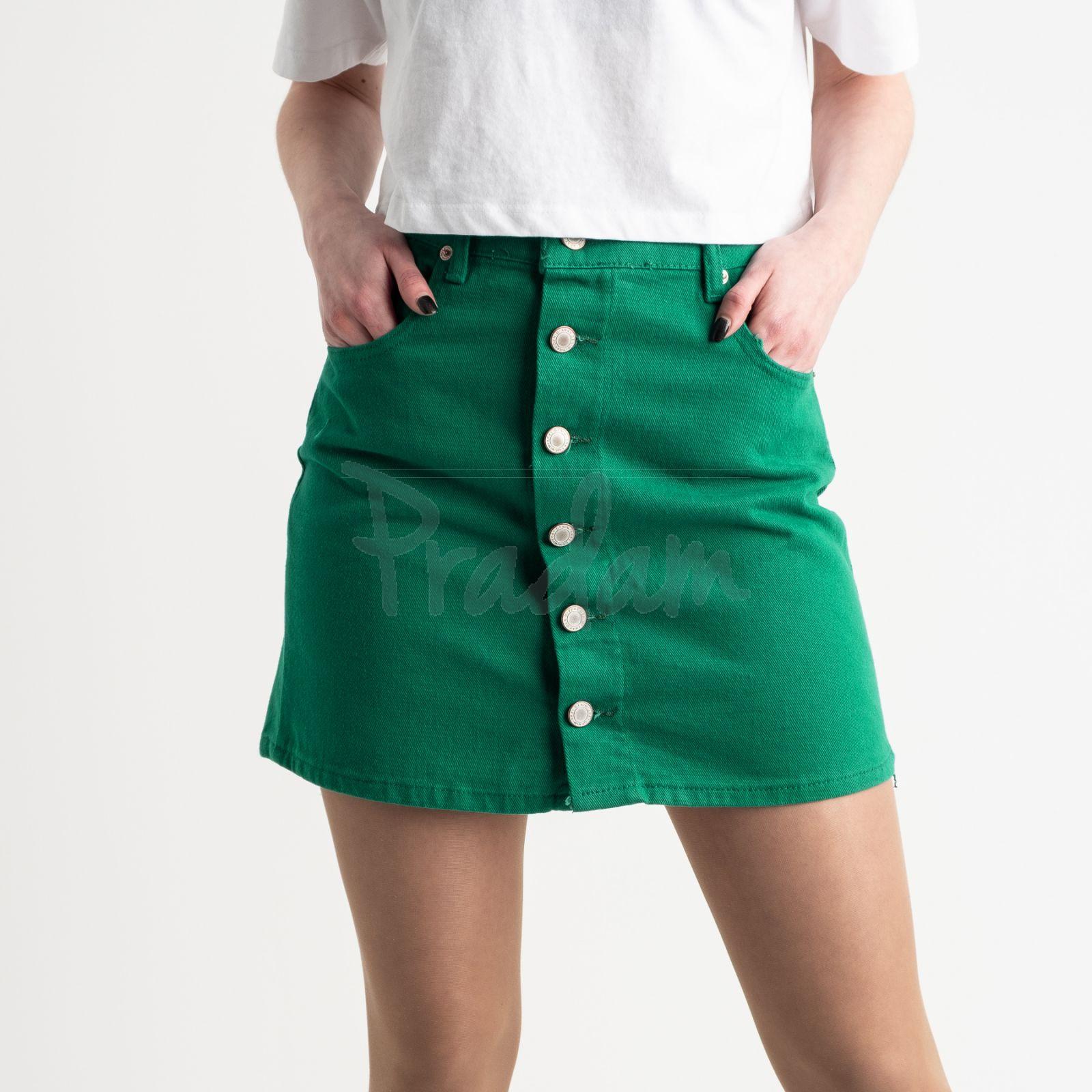 2854-3 XRay юбка на пуговицах зеленая котоновая (6 ед. размеры: 34.34.36.36.38.40)