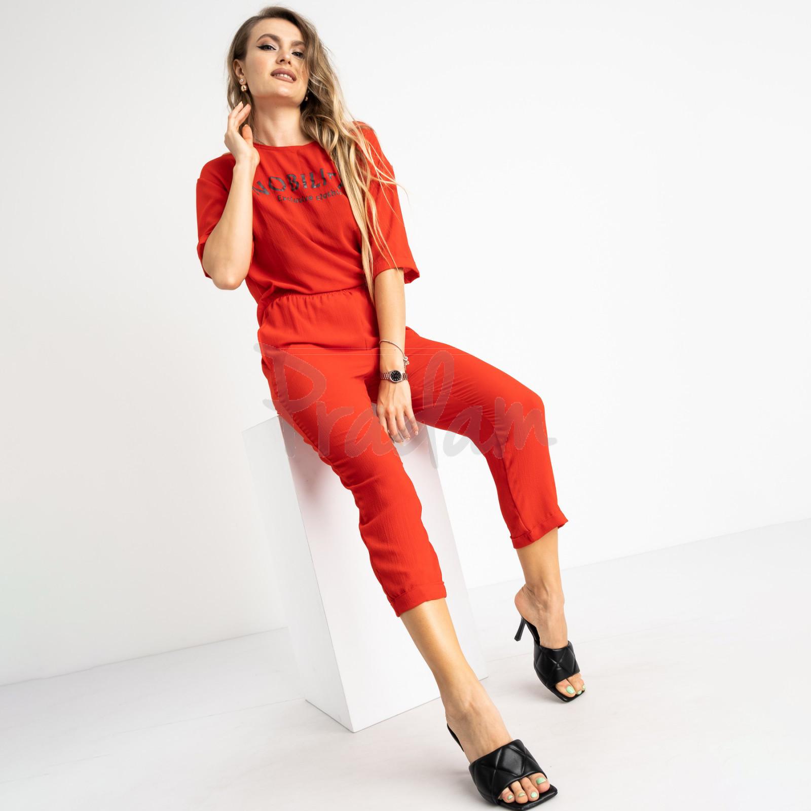 9005-3 красный спортивный костюм женский полубатальный ( 5 ед. размеры: 46.48.50.52.54) отправка заказов 21.06
