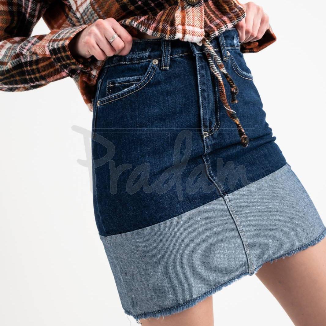 2576 XRay юбка джинсовая синяя котоновая (6 ед. размеры: 34.34.36.36.38.40)
