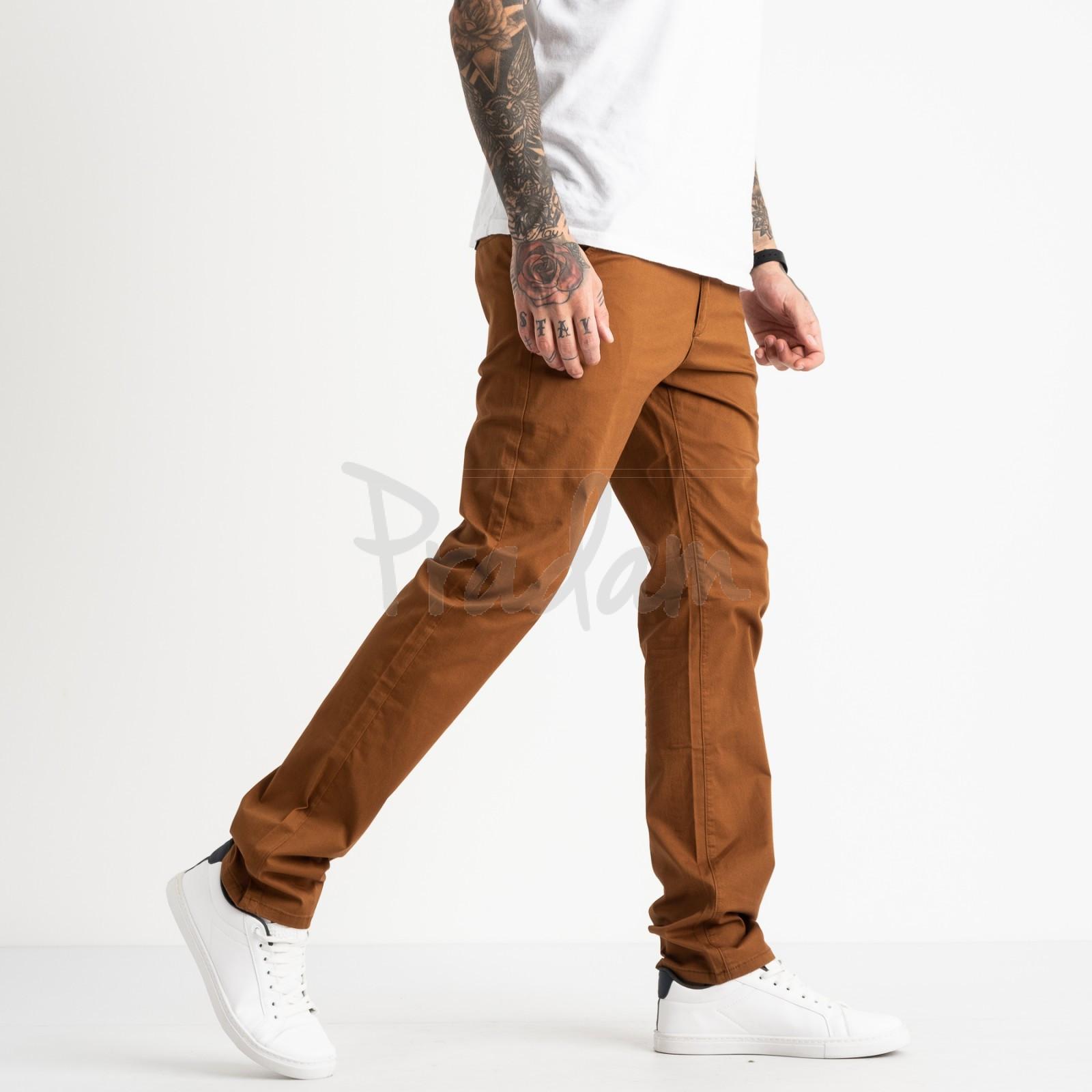 5767 LS брюки мужские теракотовые стрейчевые (7 ед. размеры: 28.29.30.31.32.33.34)