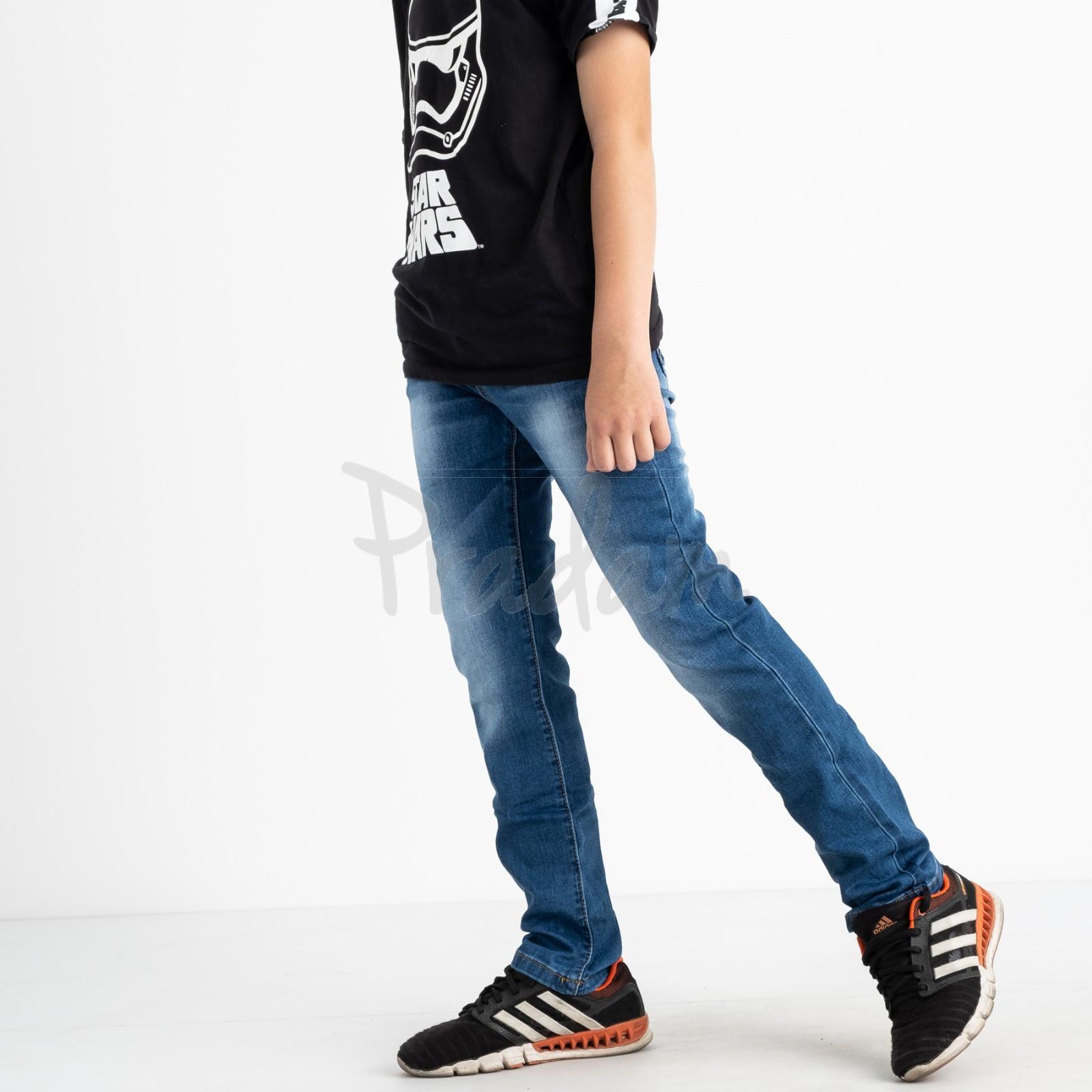 0091-2 Vingvgs джинсы юниор синие стрейчевые (6 ед. размеры: 30.31.32.33.34.35)