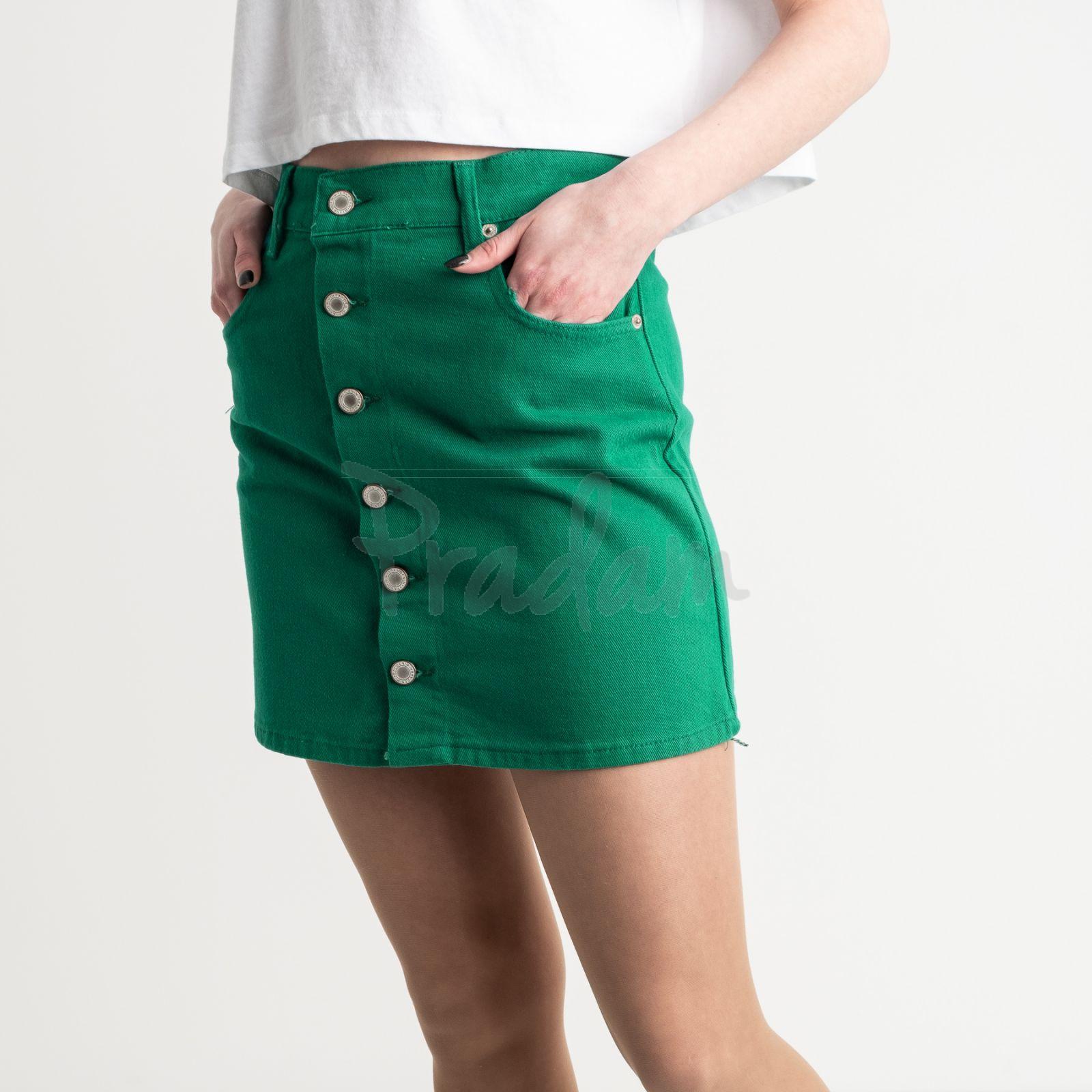 2834 XRay юбка на пуговицах зеленая котоновая (6 ед. размеры: 34.34.36.36.38.40)