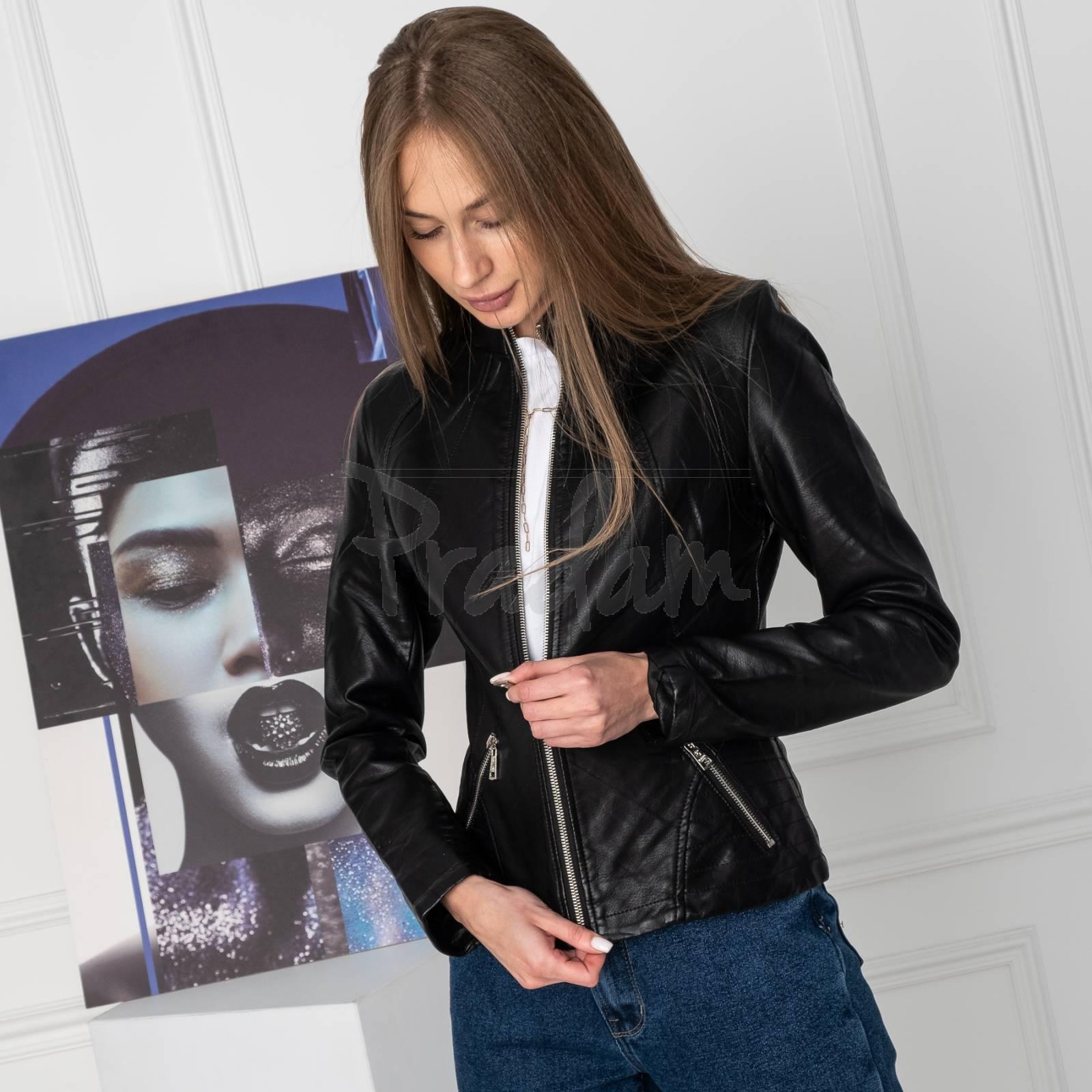 0311 куртка женская из кожзама (5 ед. размеры: S.M.L.XL.XXL)