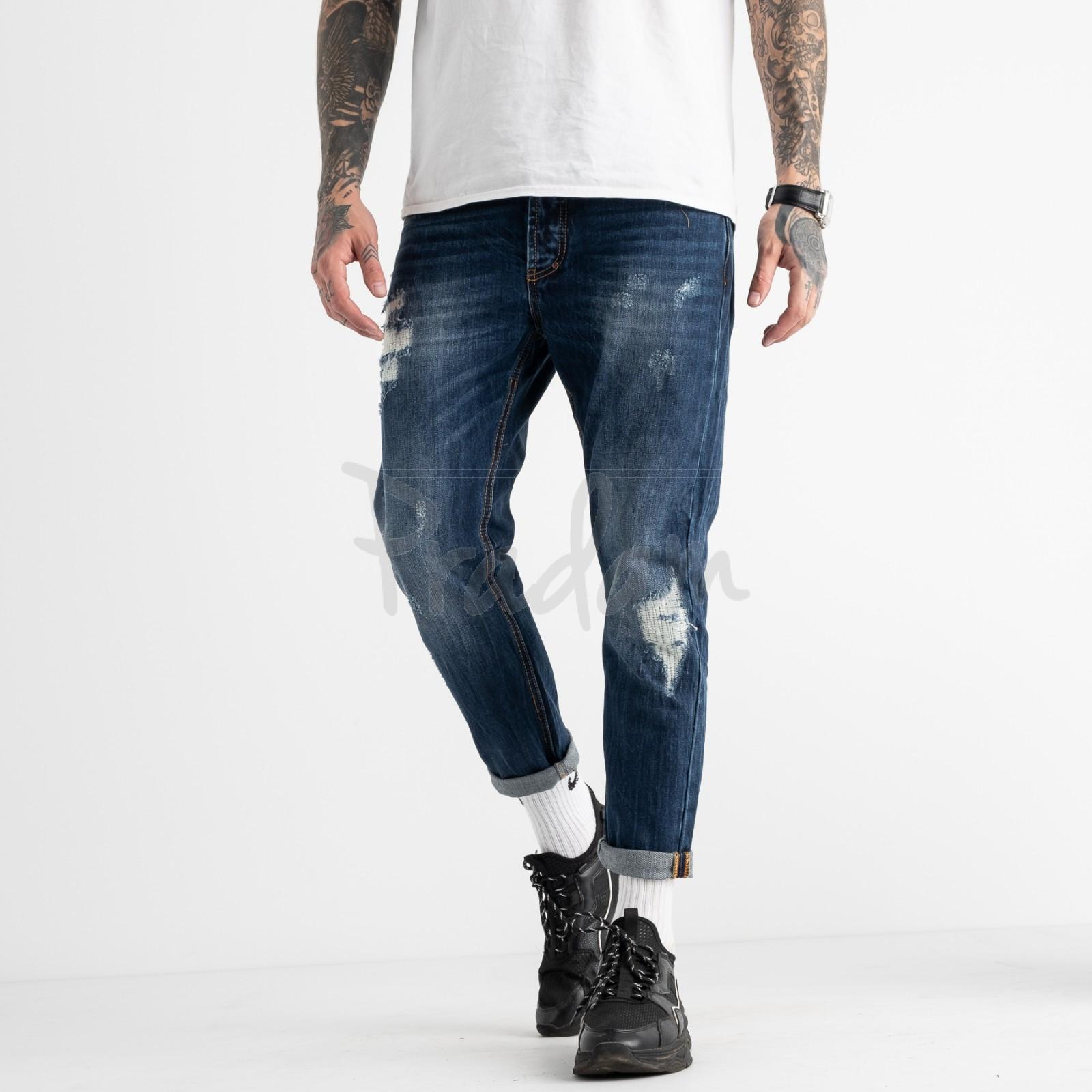 0181-03 мужские джинсы синие котоновые (6 ед. размеры: 30.34.34.34.36.38)