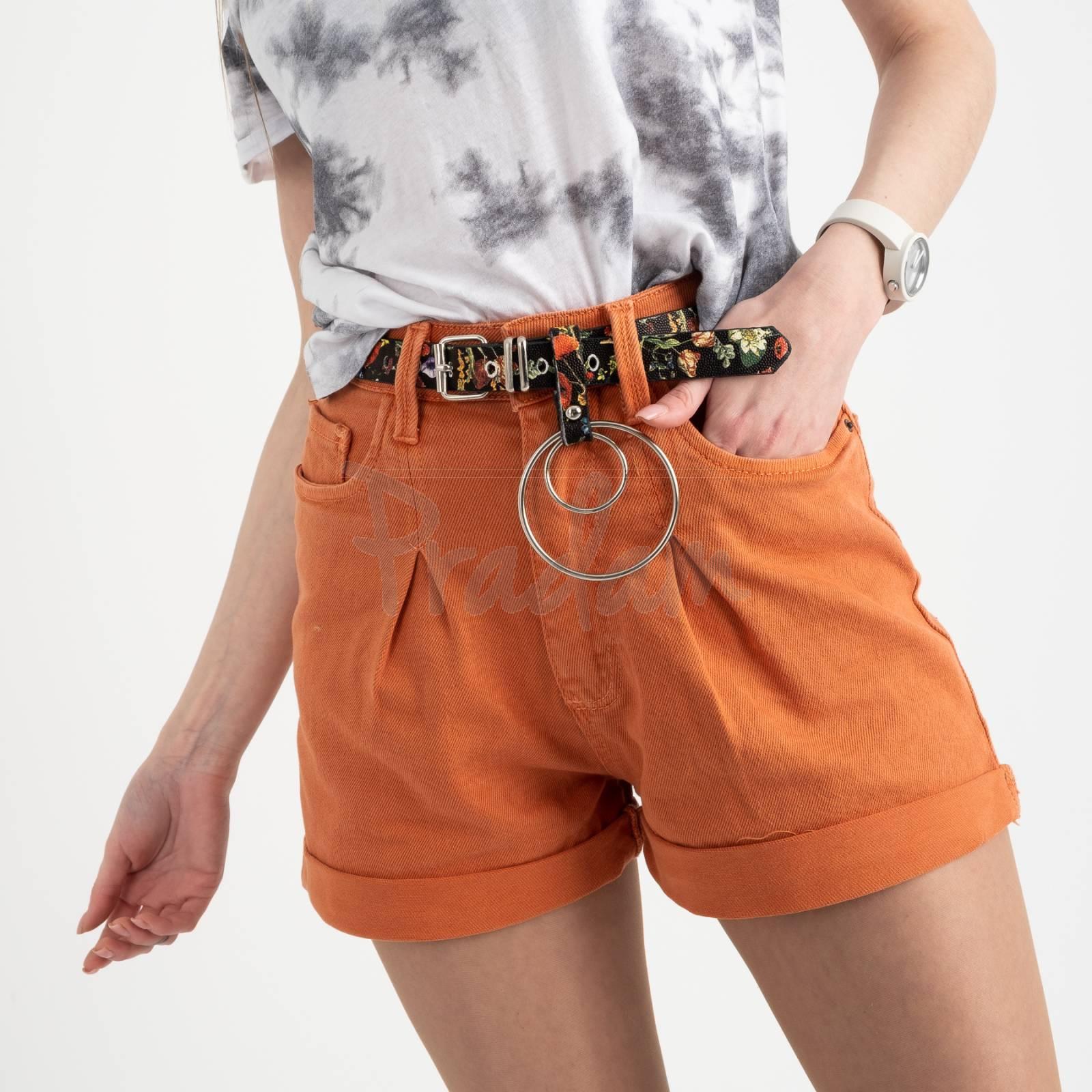 0442 Whats up 90s шорты кирпичные женские стрейчевые (5 ед. размеры: 26.27.28.29.30)