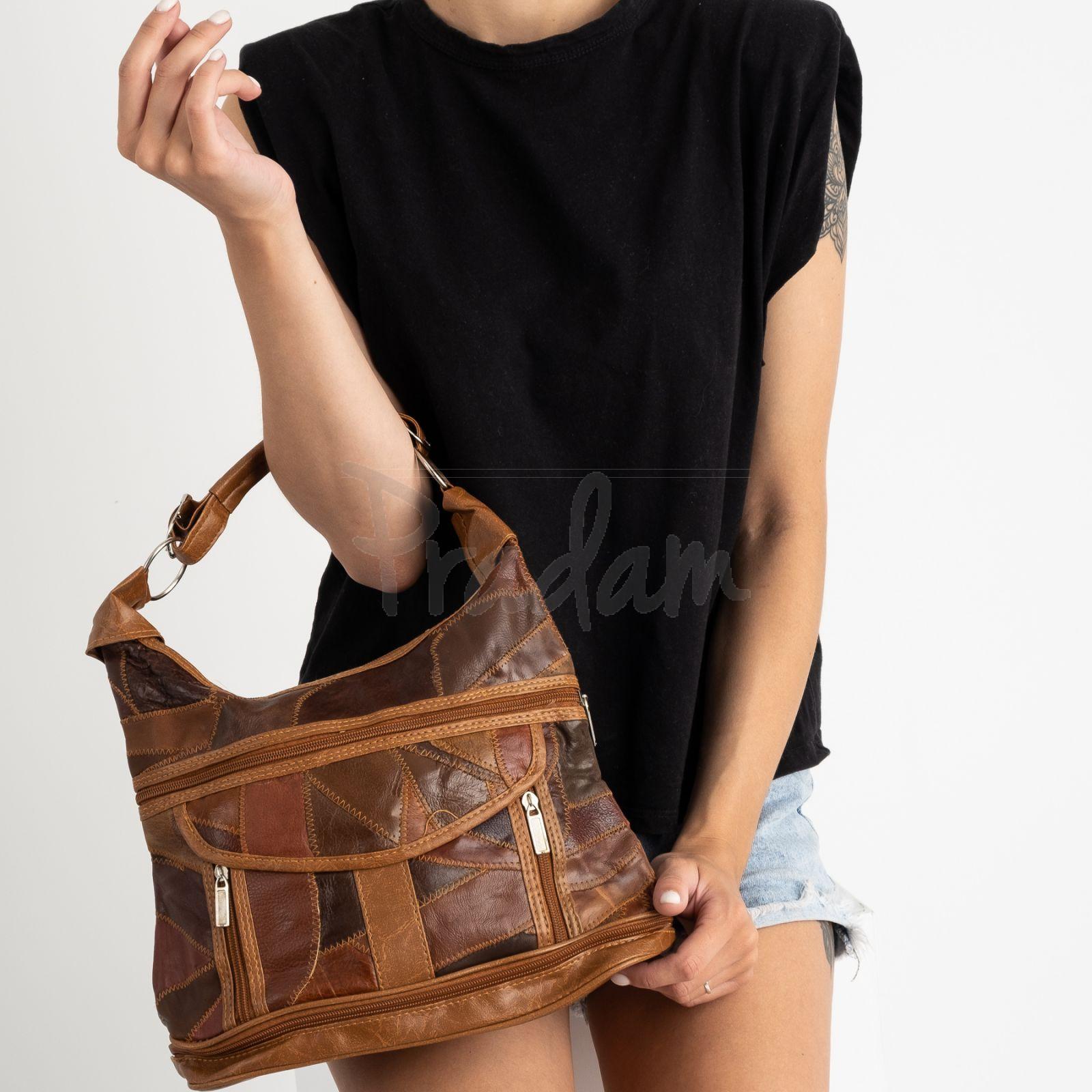 8818 коричневая сумка женская из экокожи (5 ед.)