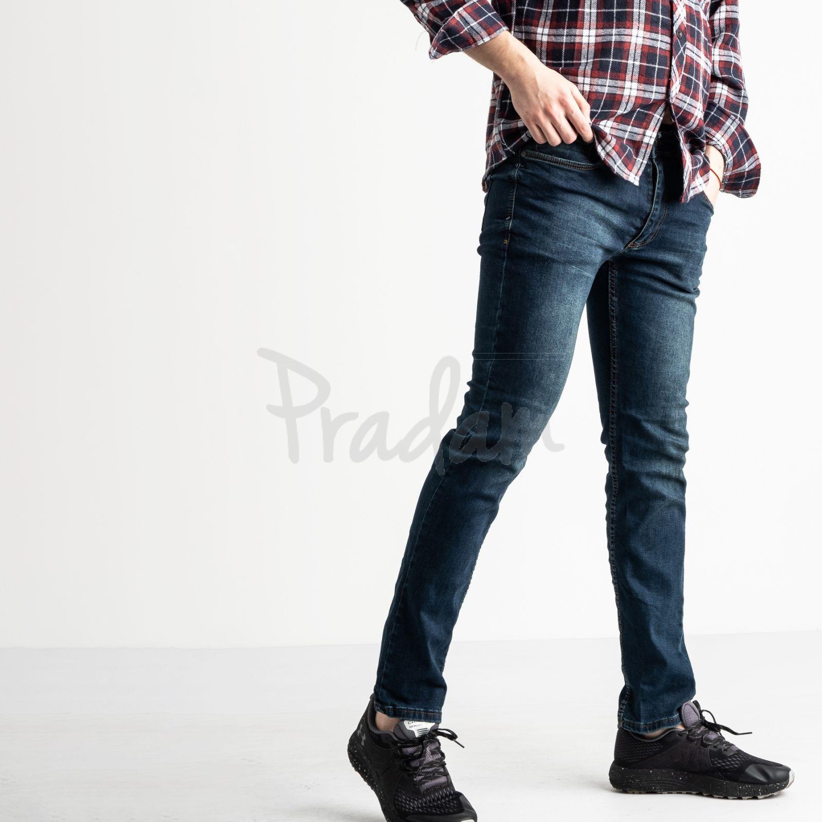 6069 Destry джинсы мужские синие стрейчевые (8 ед. размеры: 27.28.28.29.29.30.31.32)