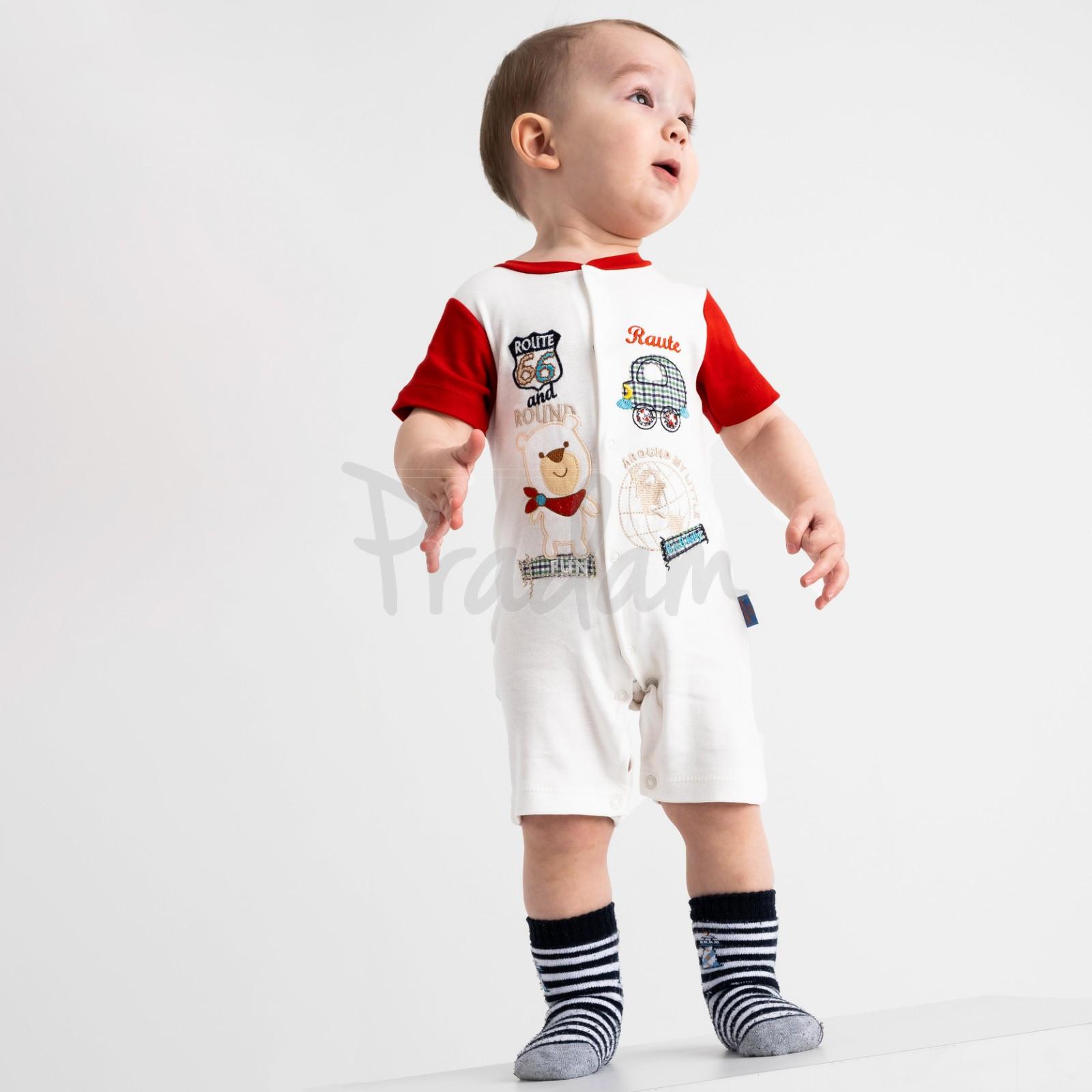 17065 Emotion kids красный комбинезон на мальчика 1-9 мес. (6 ед. размеры: 62.62.68.68.74.74)