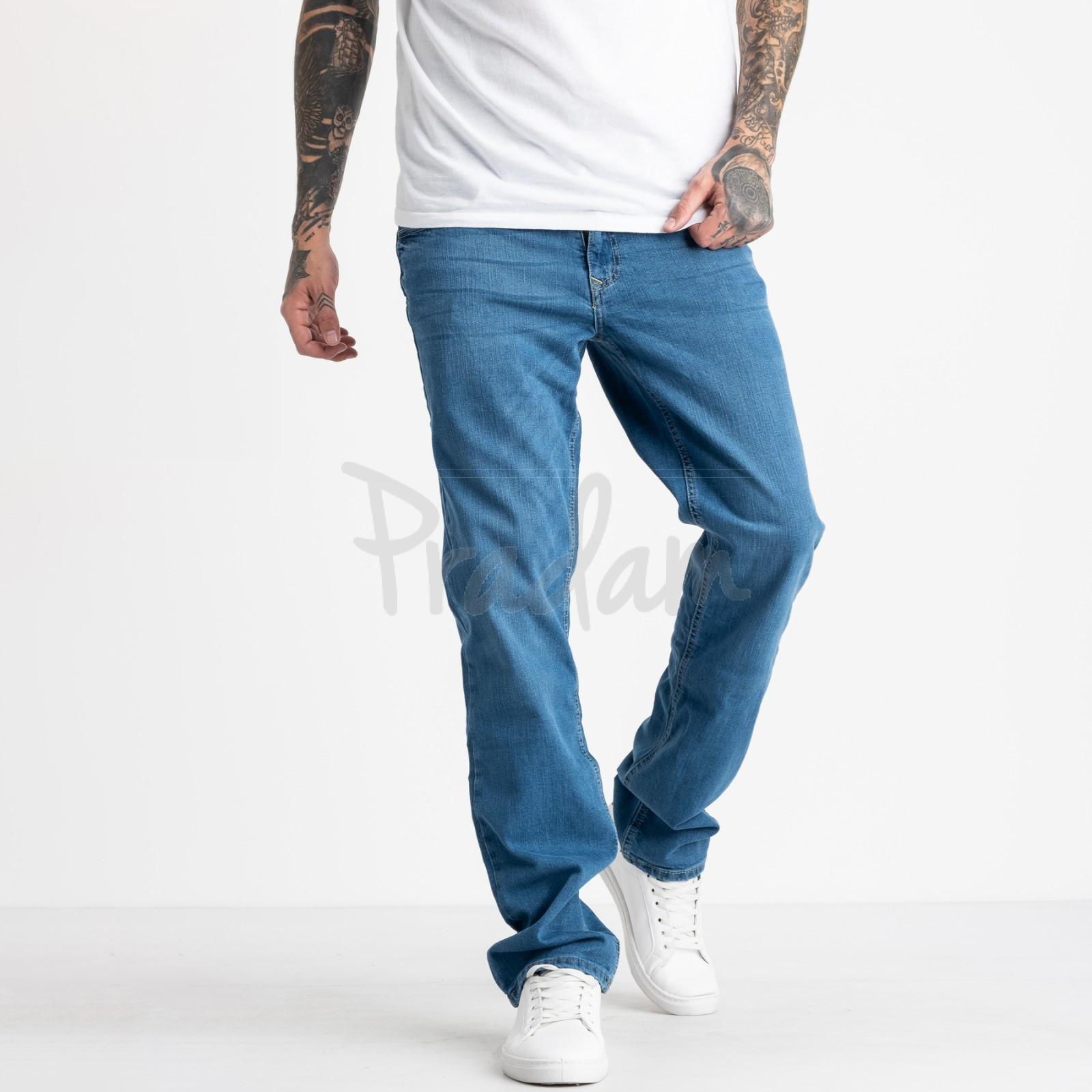 1934-1 Nescoly джинсы мужские голубые стрейчевые (8 ед. размеры: 30.32.34.36/2.40/2.+1)