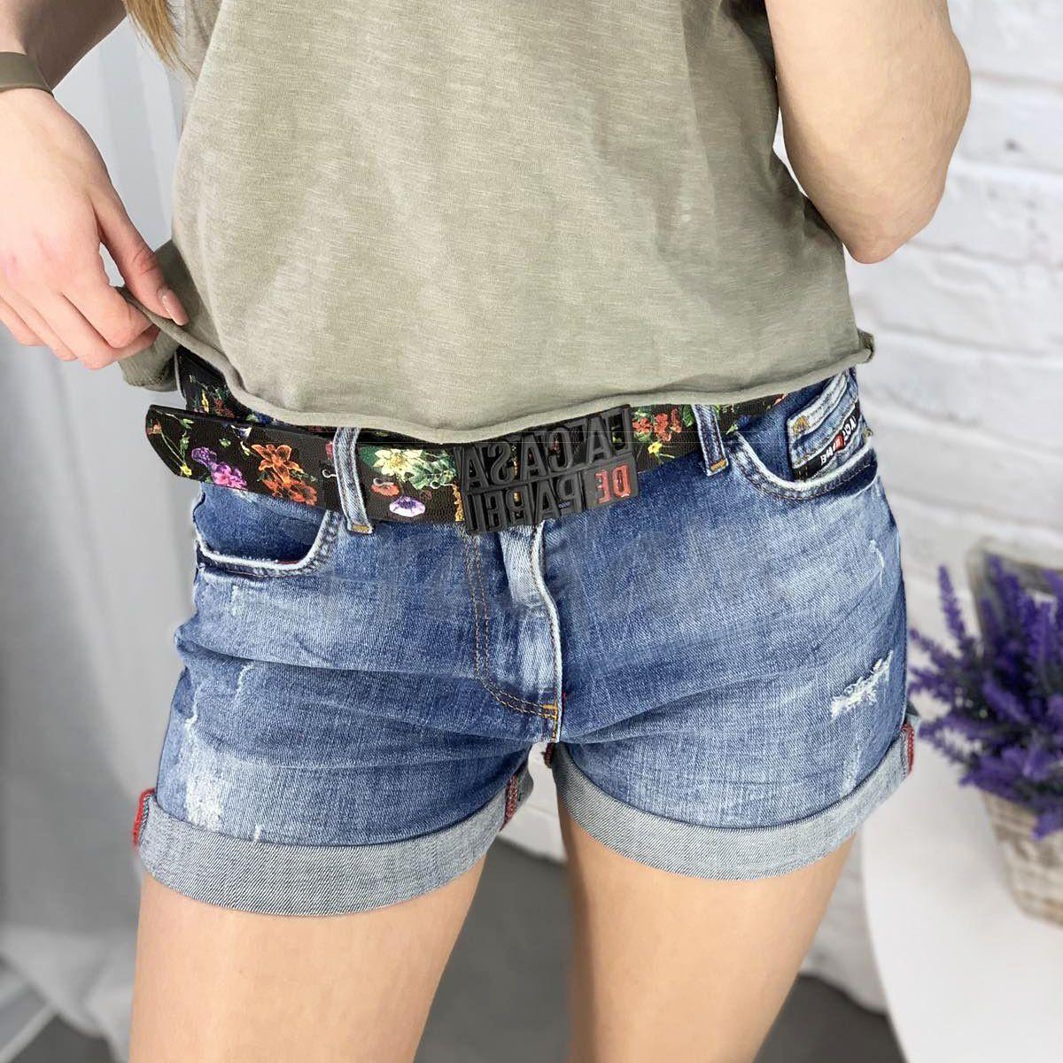 6617 Whats up 90s шорты джинсовые женские стрейчевые (5 ед. размеры: 26.27.28.29.30)