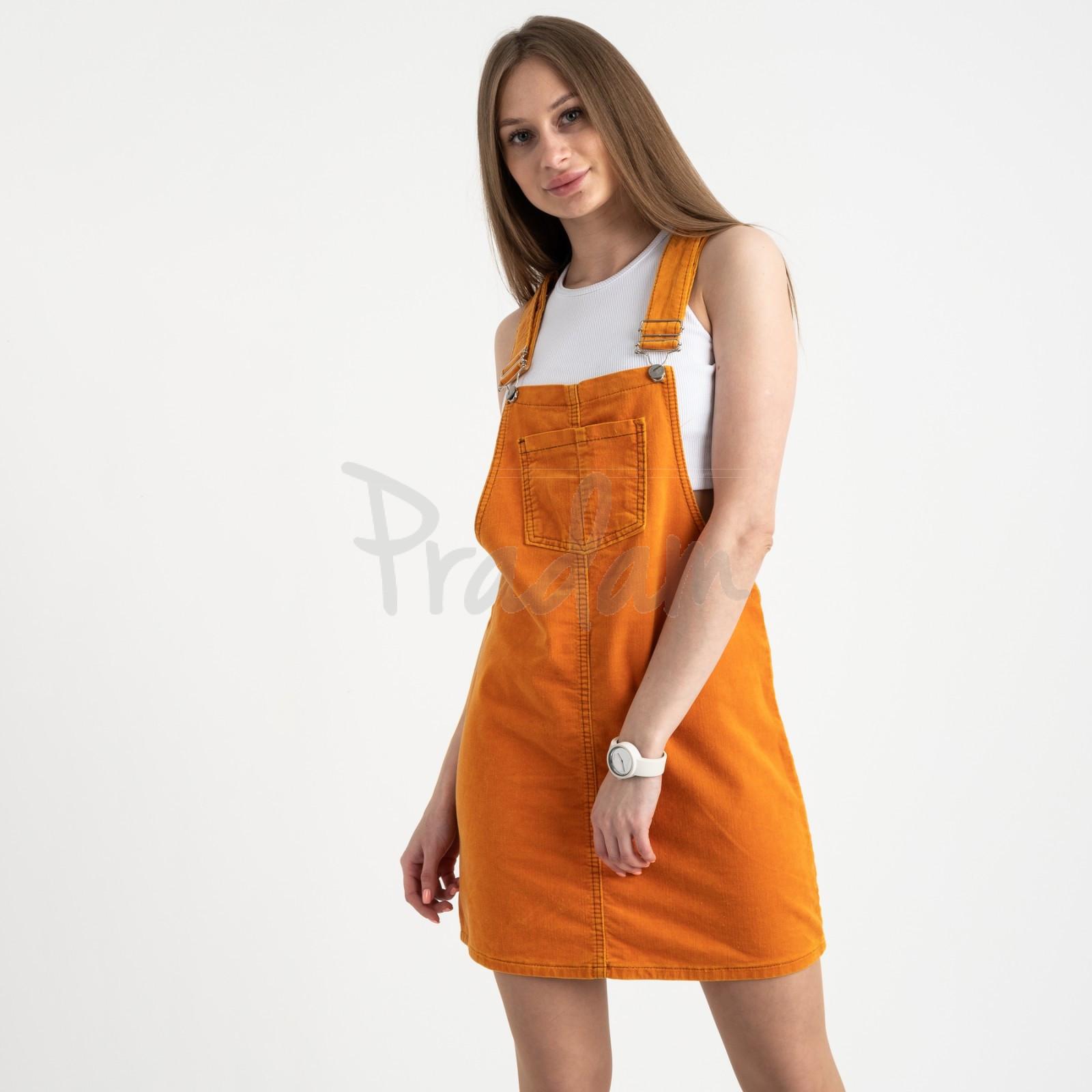 2905 Defile сарафан велюровый оранжевый стрейчевый ( 6 ед. размеры: 34.36/2.38/2.40)