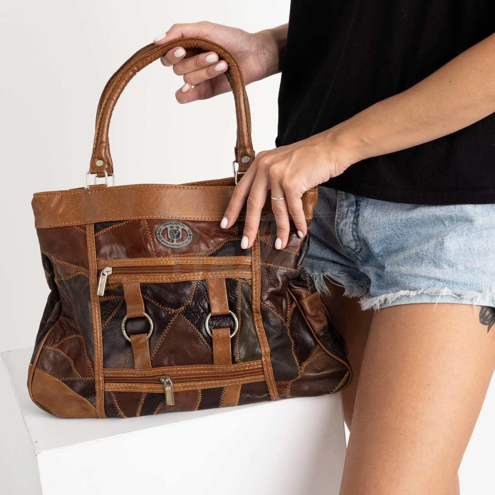 8817 коричневая сумка женская из экокожи (5 ед.)