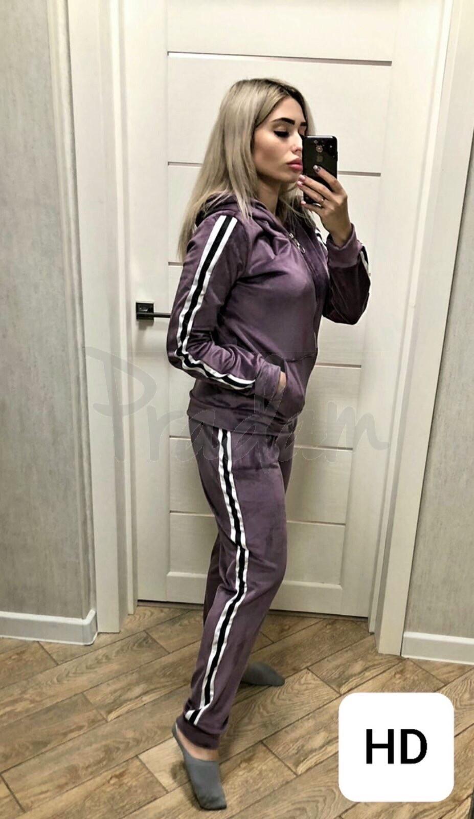 0058 баклажан женский спортивный костюм (42-50, 5 ед.)