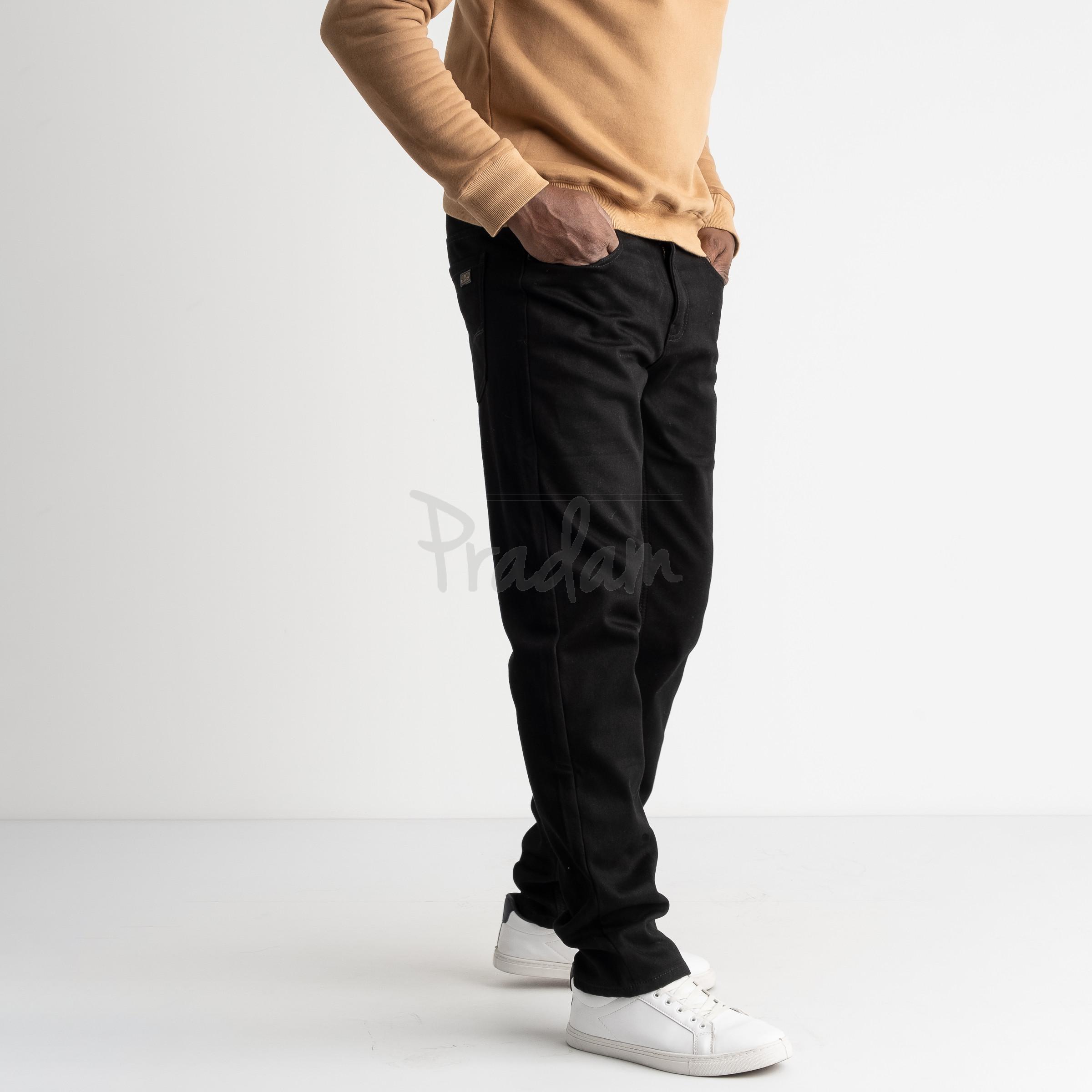 5020 Dsouaviet черные джинсы мужские стрейчевые на флисе (8 ед.размеры: 29.30.31.32.33.34.36.38)