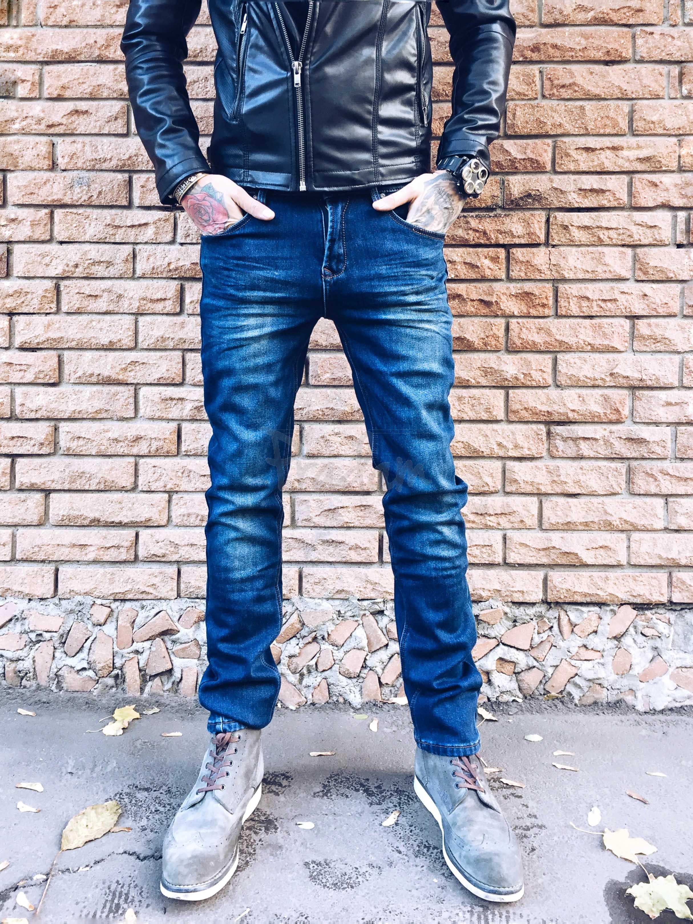2652 LS джинсы мужские на флисе стрейчевые (29,30,30,31,32,32,38, 7 ед.)