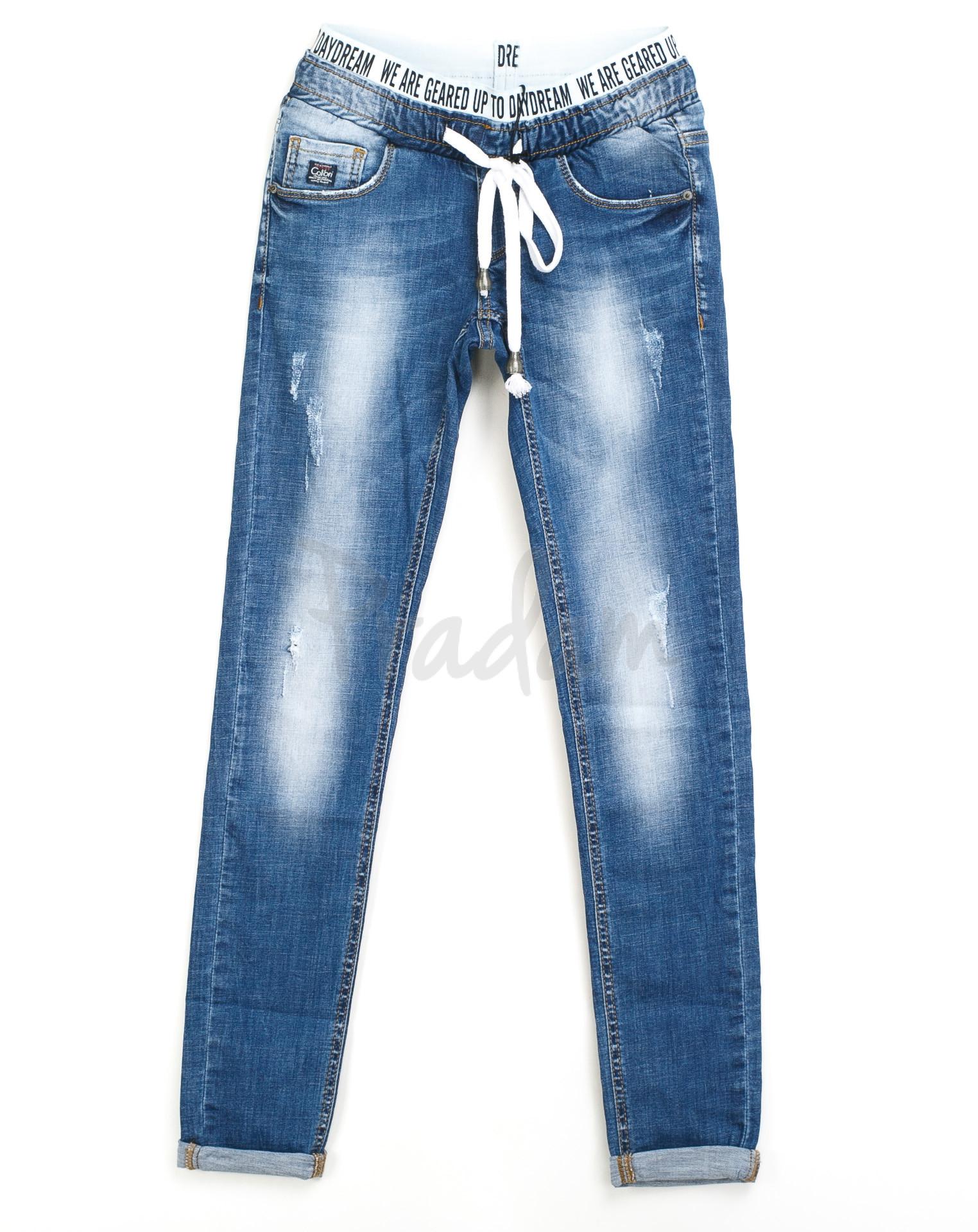 5185d08da3b4 женские джинсы на резинке царапки 9210-550 (25-30, 6 ед.) Colibri: купить  оптом в ...