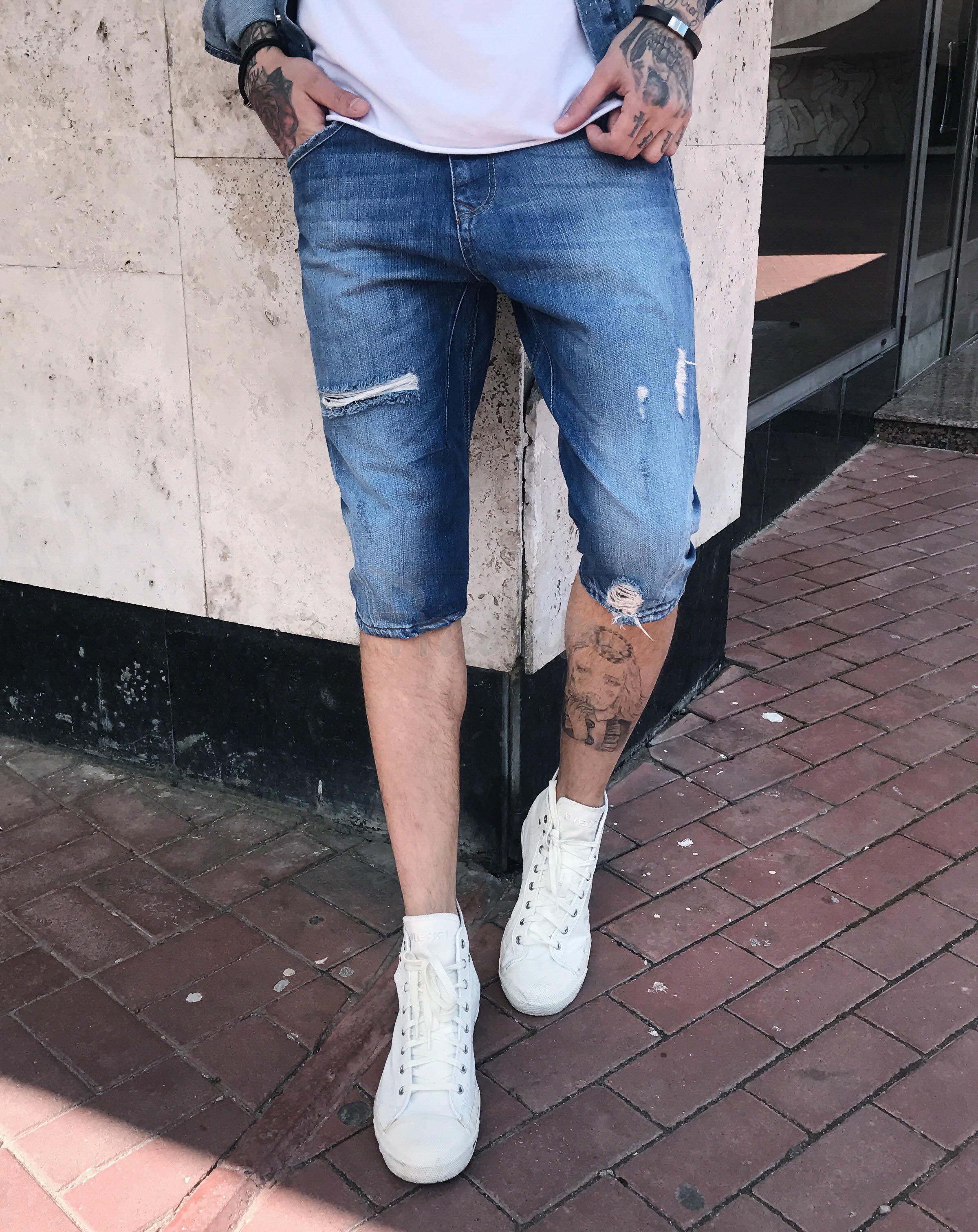 00348 Manzara шорты джинсовые мужские стрейчевые (29,29,30,31,31,34,34,36, 8 ед.)