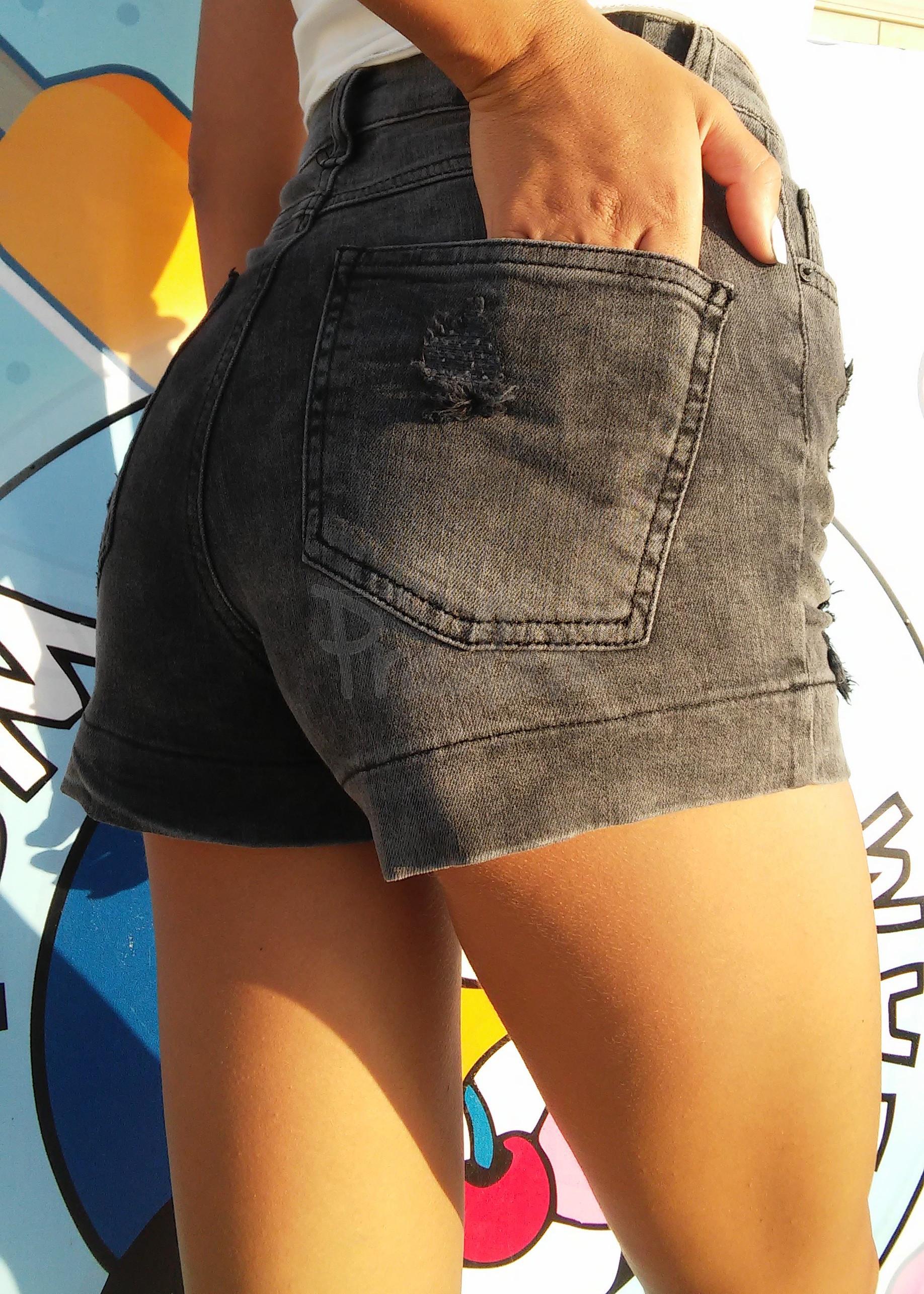 0316 Replus шорты женские серые короткие котоновые (25,26,27,27,28,29, 6 ед.)
