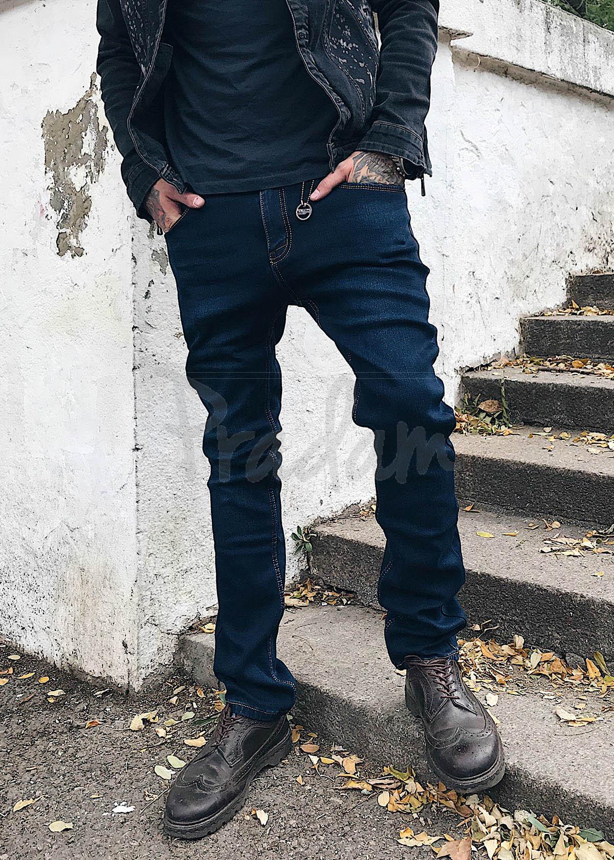 7517 Resalsa джинсы мужские на байке стрейчевые (33,33,36,36,38,38, 6 ед.)