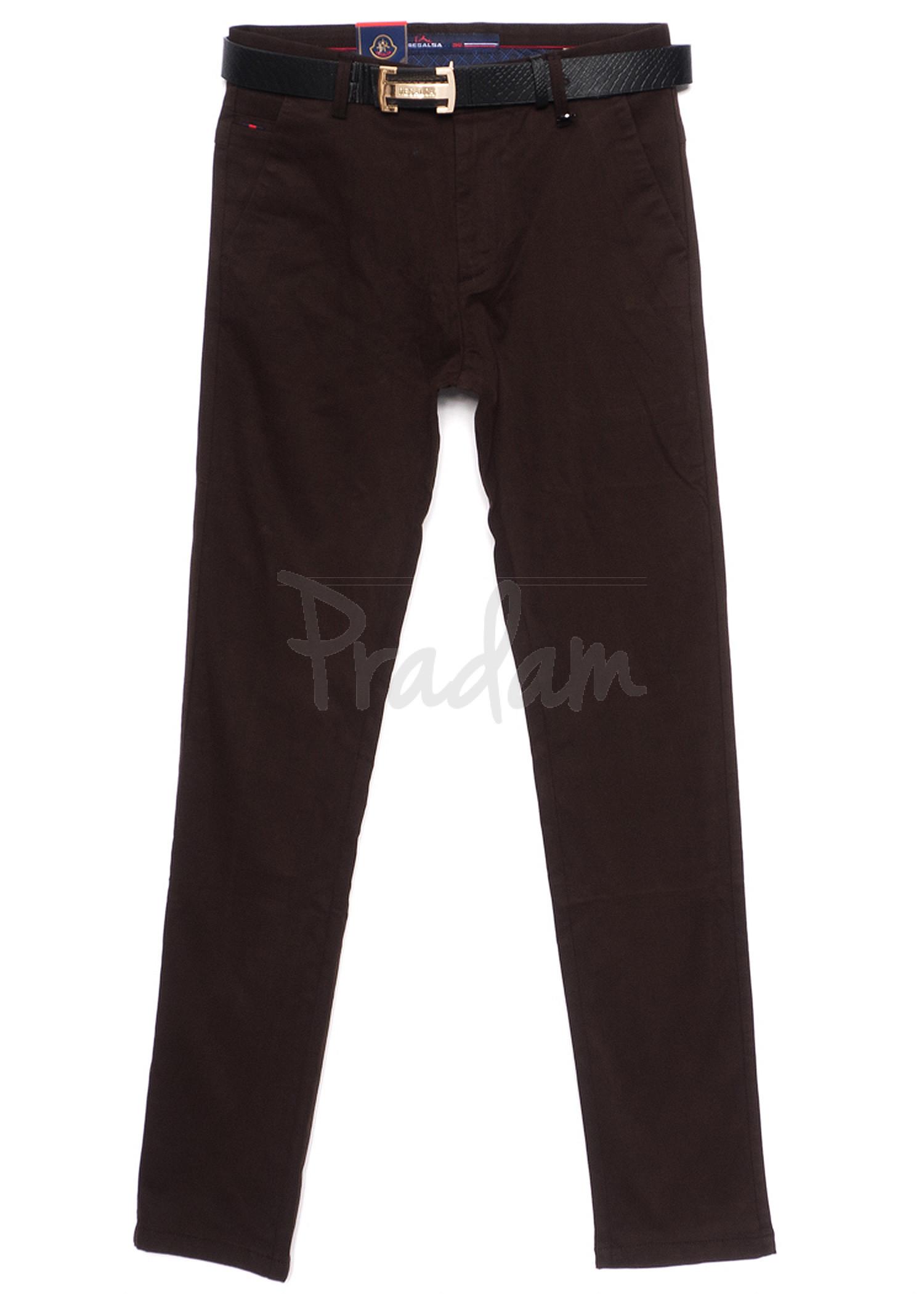 1007-18 Resalsa коричневые (29-36, 7 ед.) брюки мужские весенние стрейчевые
