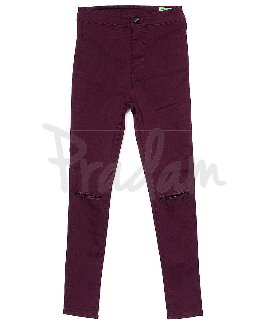 1012 бордовый прорези Topshop X (34-42, 10 ед.) джинсы женские летние стрейчевые