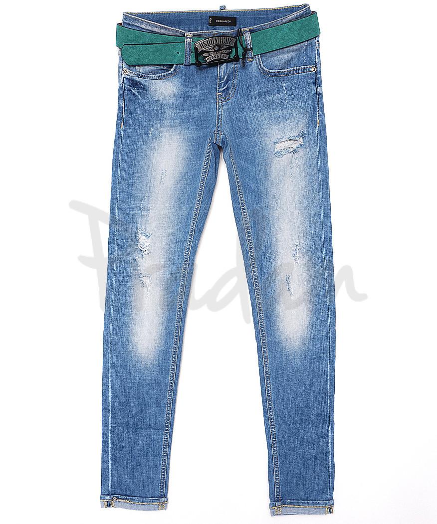 1833-567 Dsquared (25-30, 6 ед.) джинсы женские летние стрейчевые