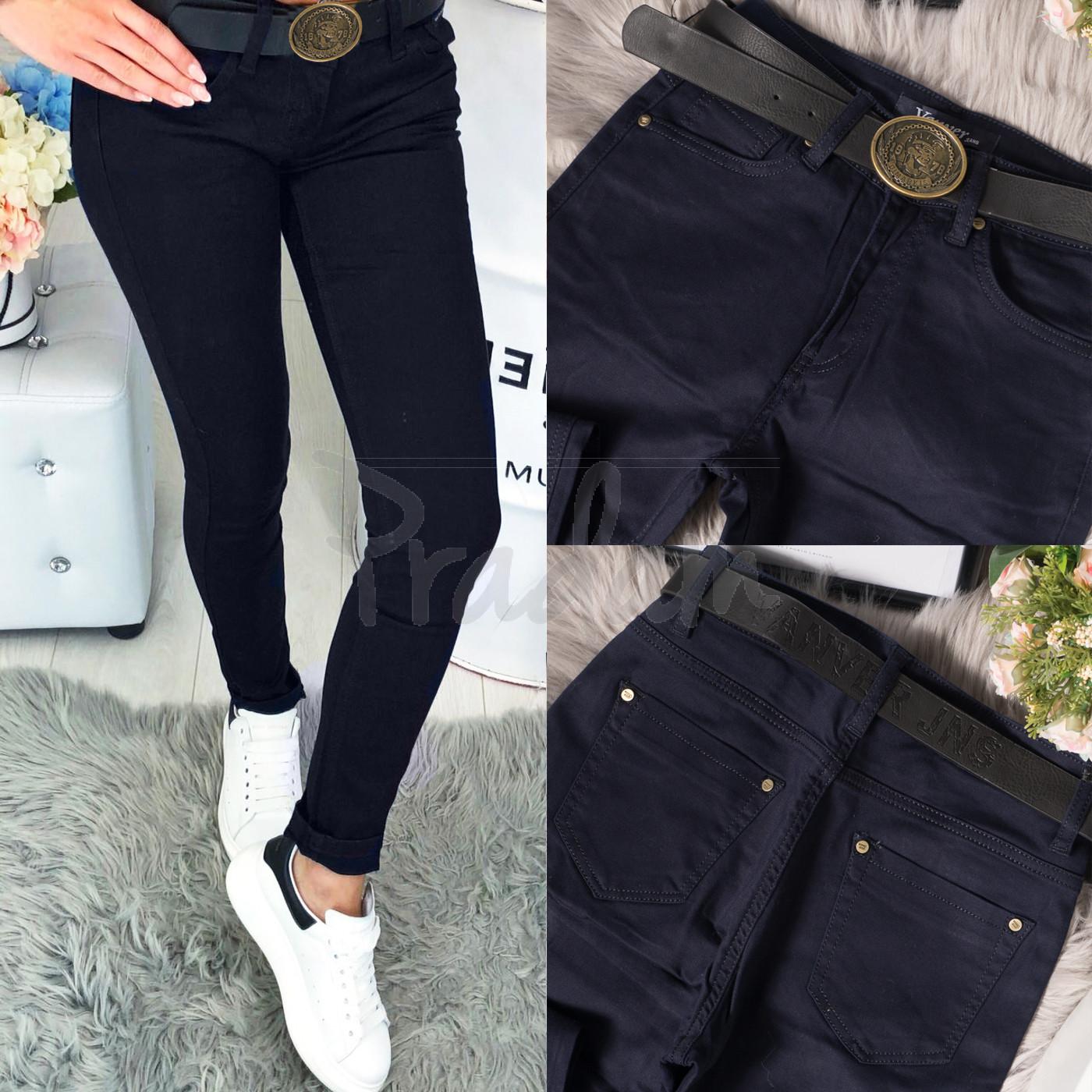 8926 Vanver джинсы женские батальные темно-синие осенние стрейчевые (28-33, 5 ед.)