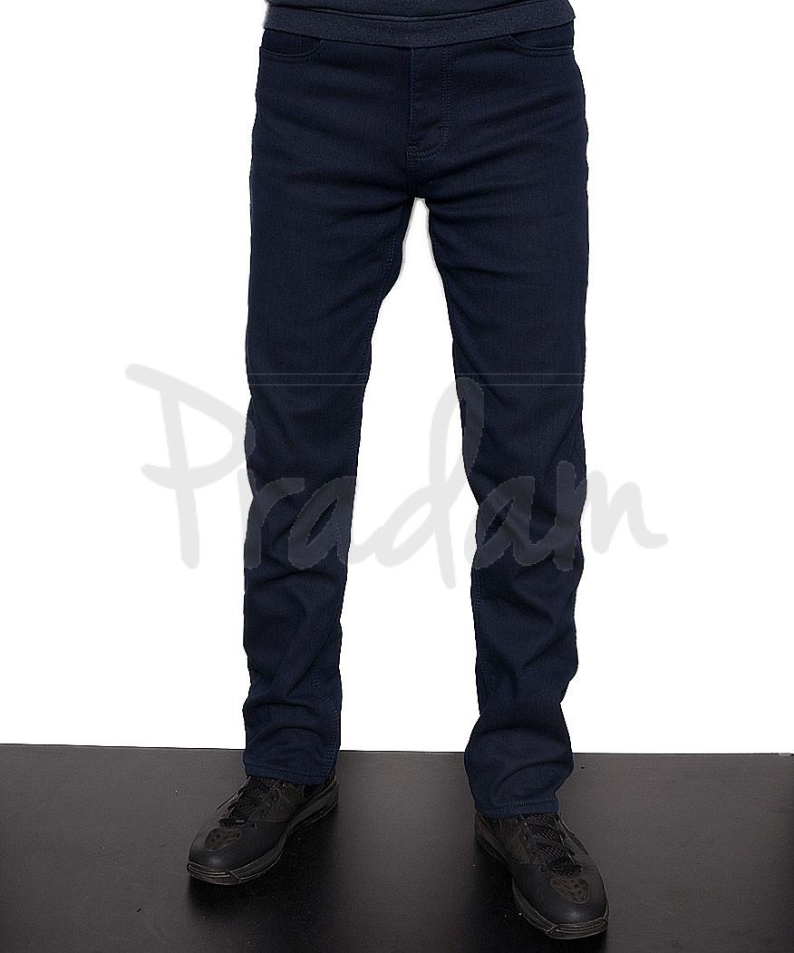 b81226cec71a 8414 LS джинсы мужские темно-синие на флисе стрейчевые (30-38, 8 ед.):  артикул 1086245. ...