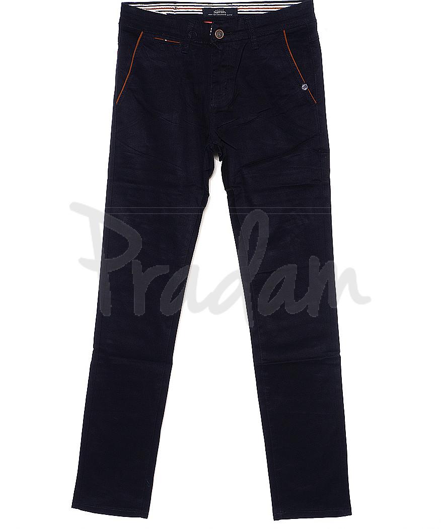 0037-5 Feerars брюки мужские с косым карманом темно-синие весенние стрейчевые (29-38, 8 ед.)