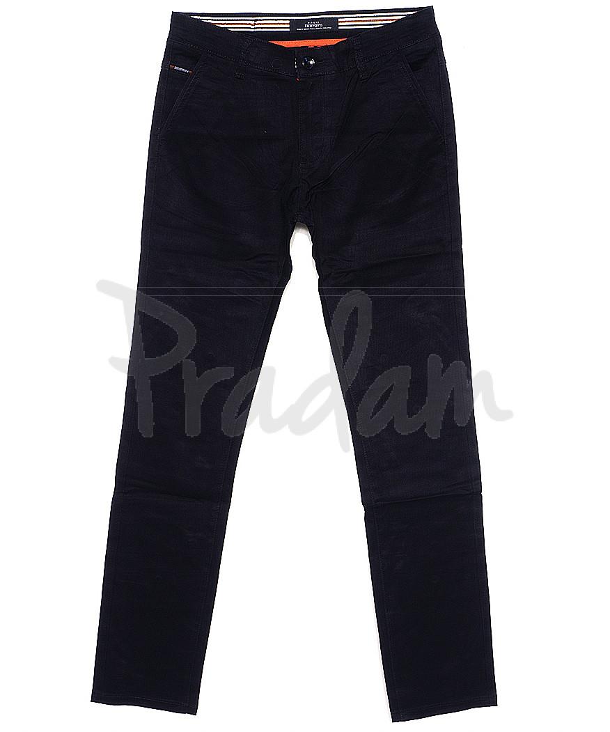 0038-29 Feerars брюки мужские с косым карманом темно-синие весенние стрейчевые (29-38, 8 ед.)