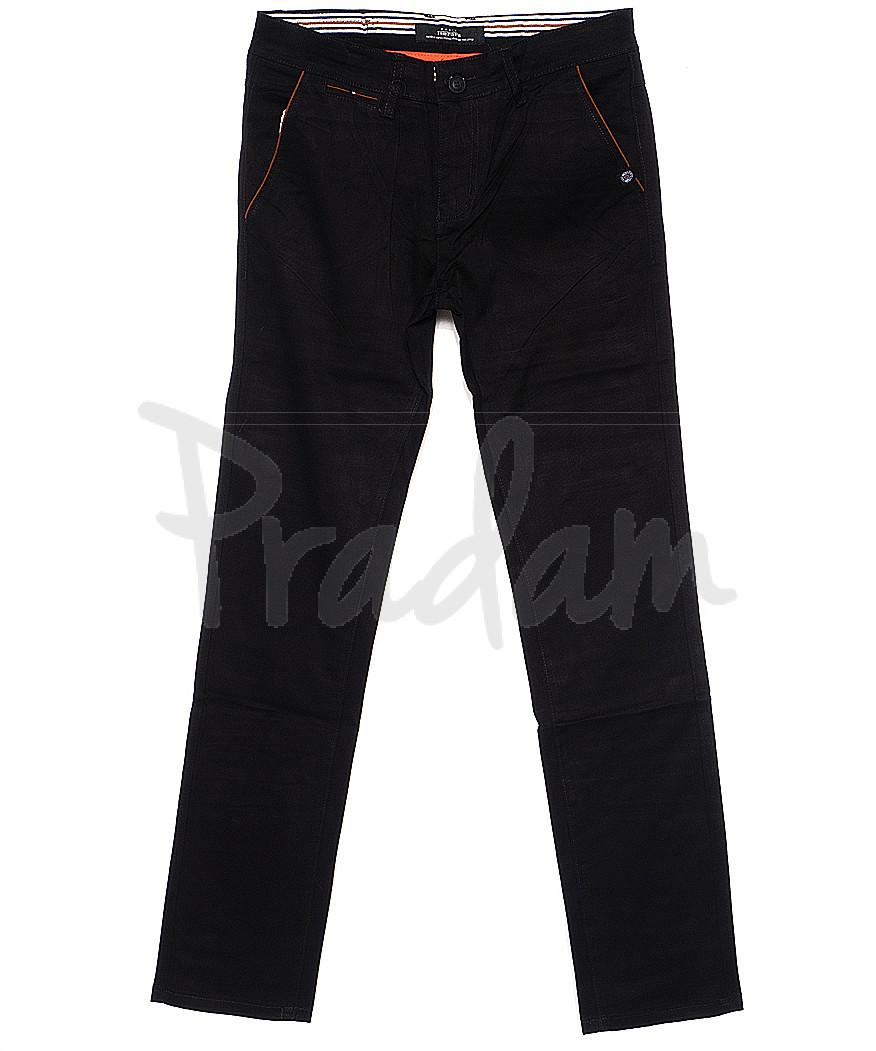 0037-34 Feerars брюки мужские с косым карманом черные весенние стрейчевые (29-38, 8 ед.)