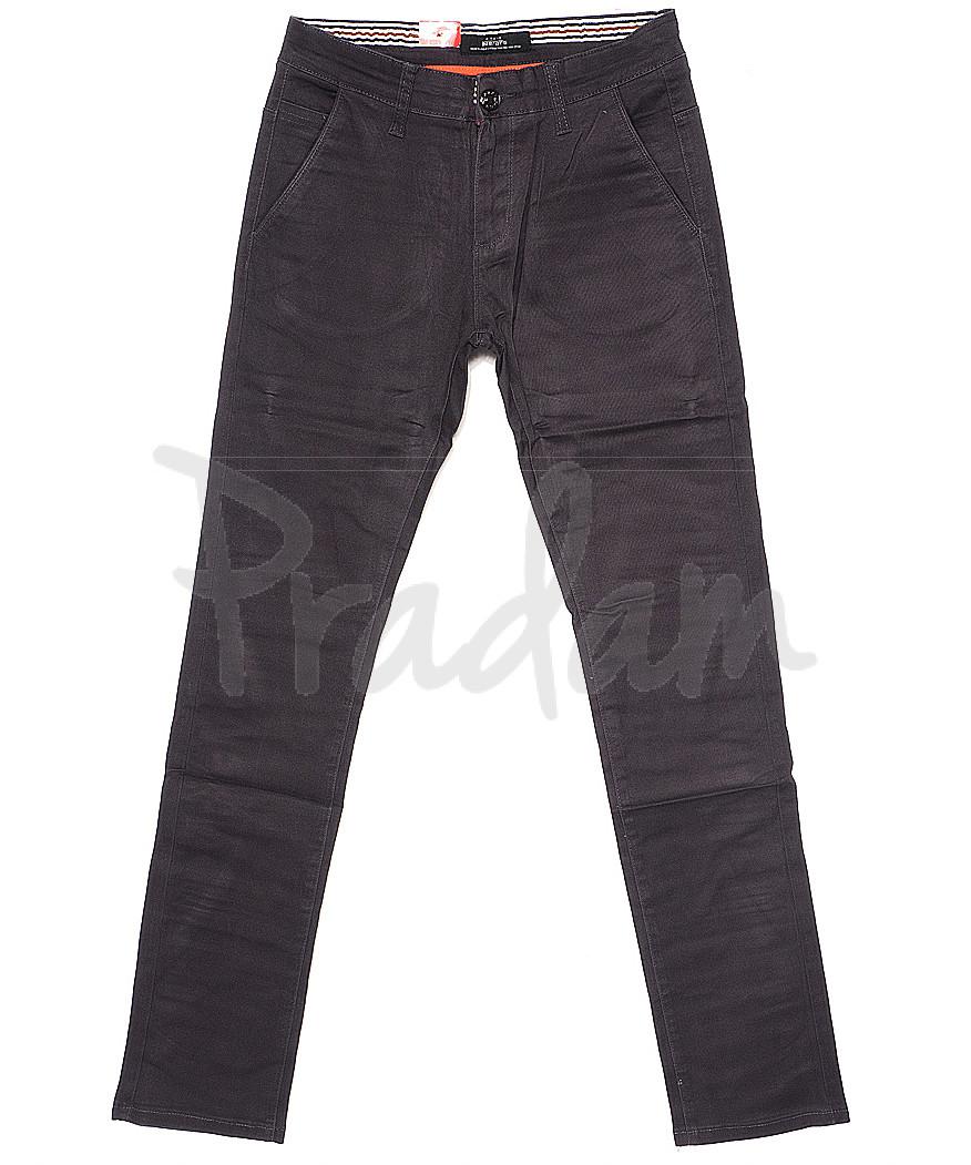 0038-6 Feerars брюки мужские с косым карманом серые весенние стрейчевые (29-38, 8 ед.)