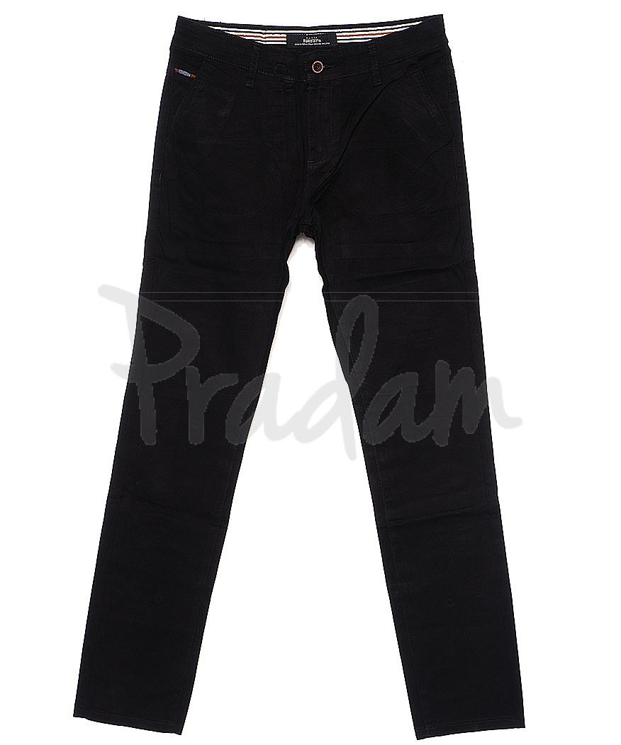 0038-34 Feerars брюки мужские с косым карманом черные весенние стрейчевые (29-38, 8 ед.)