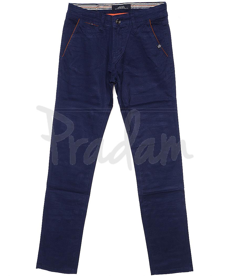 0037-1 Feerars брюки мужские с косым карманом синие весенние стрейчевые (29-38, 8 ед.)