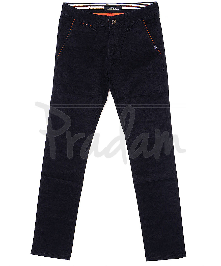 0037-29 Feerars брюки мужские с косым карманом темно-синие весенние стрейчевые (29-38, 8 ед.)