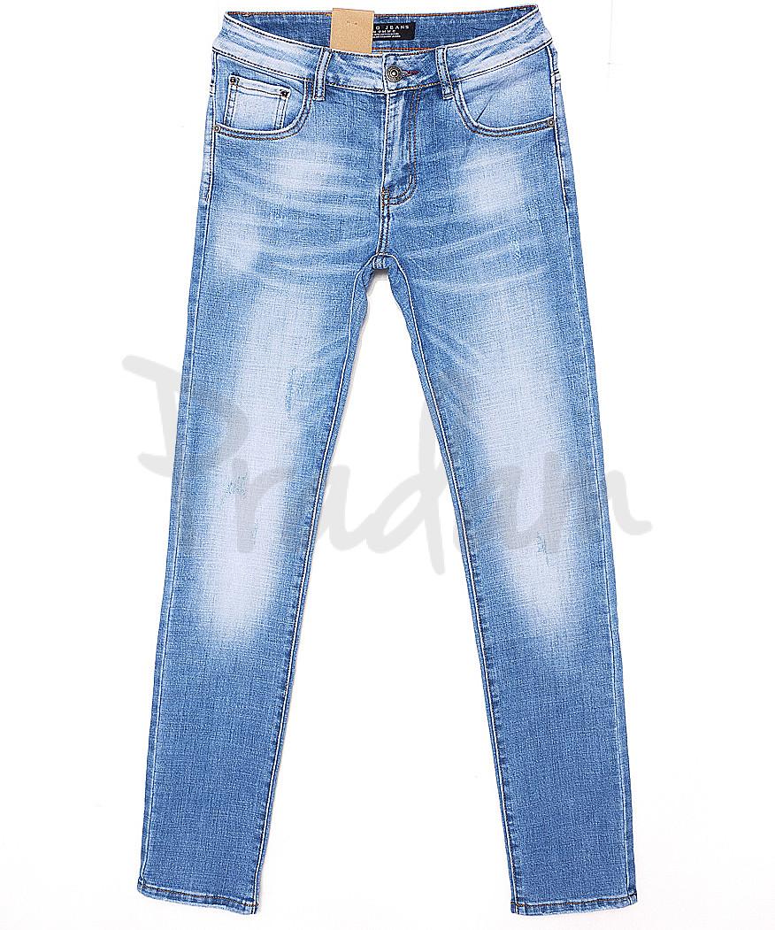 2072 Fang джинсы мужские молодежные с теркой весенние стрейчевые (28-34, 8 ед.)