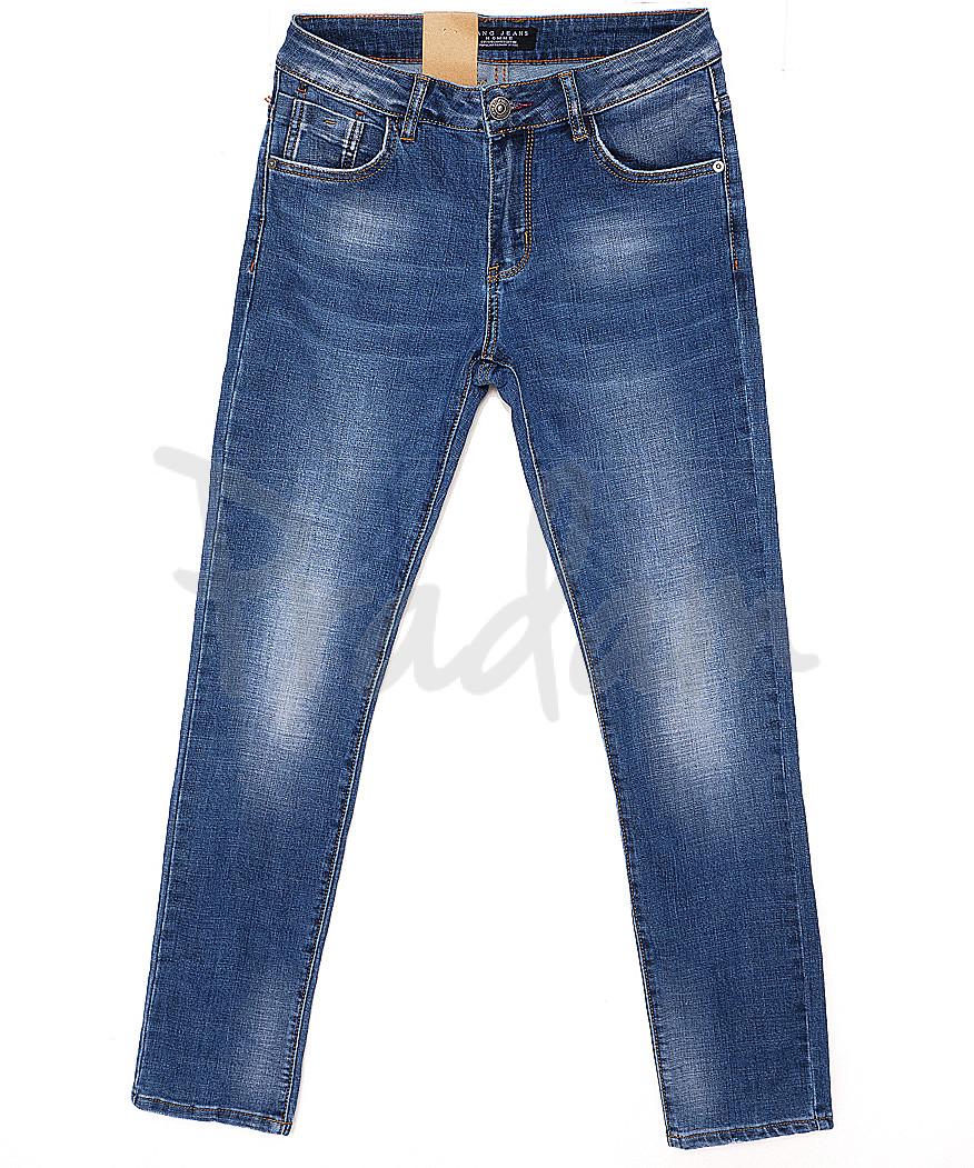 2041 Fang джинсы мужские с теркой весенние стрейчевые (29-36, 8 ед.)
