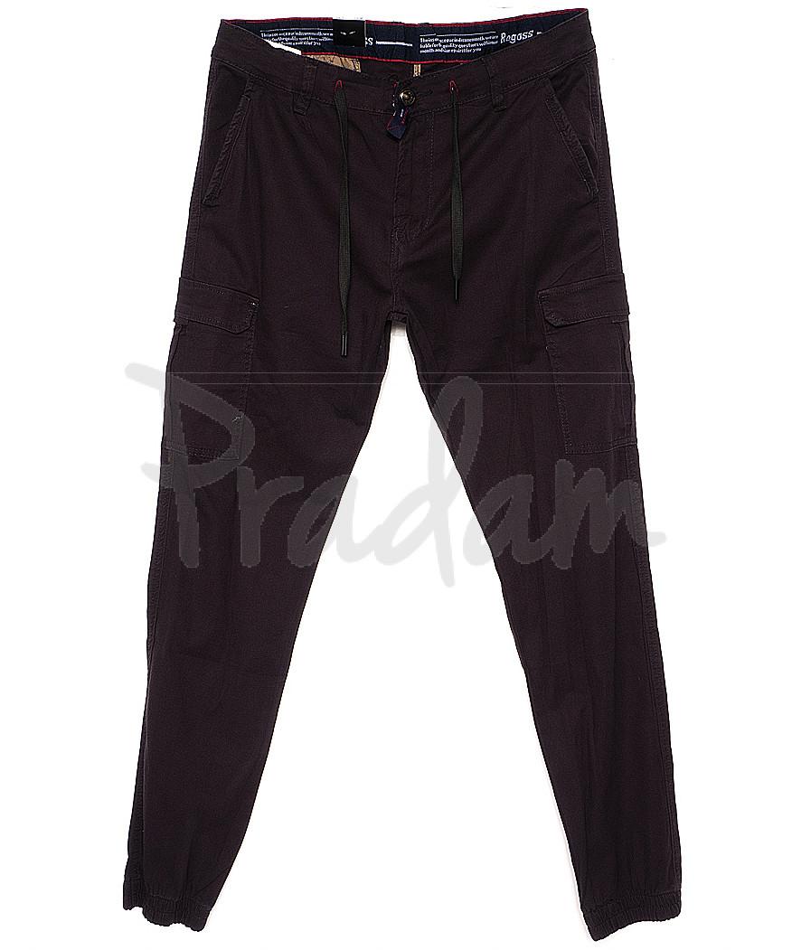 7656 (23) Regass брюки мужские батальные на манжете с карманами весенние стрейчевые (32-40, 8 ед.)