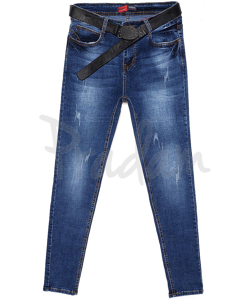 A 0558-11 Relucky джинсы женские батальные с царапками весенние стрейчевые (28-33, 6 ед.)