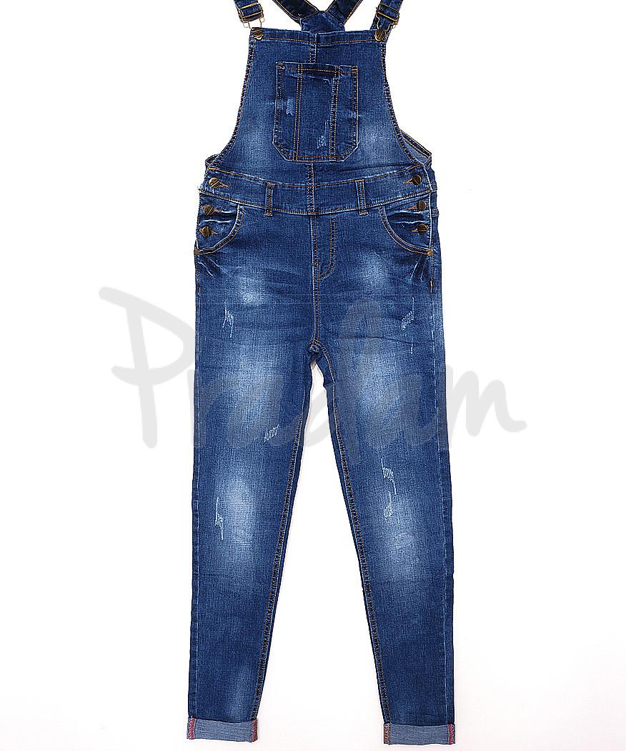 A 0304-2 Relucky комбинезон-джинсы женский с царапками стрейч-котон (25-30, 6 ед.)